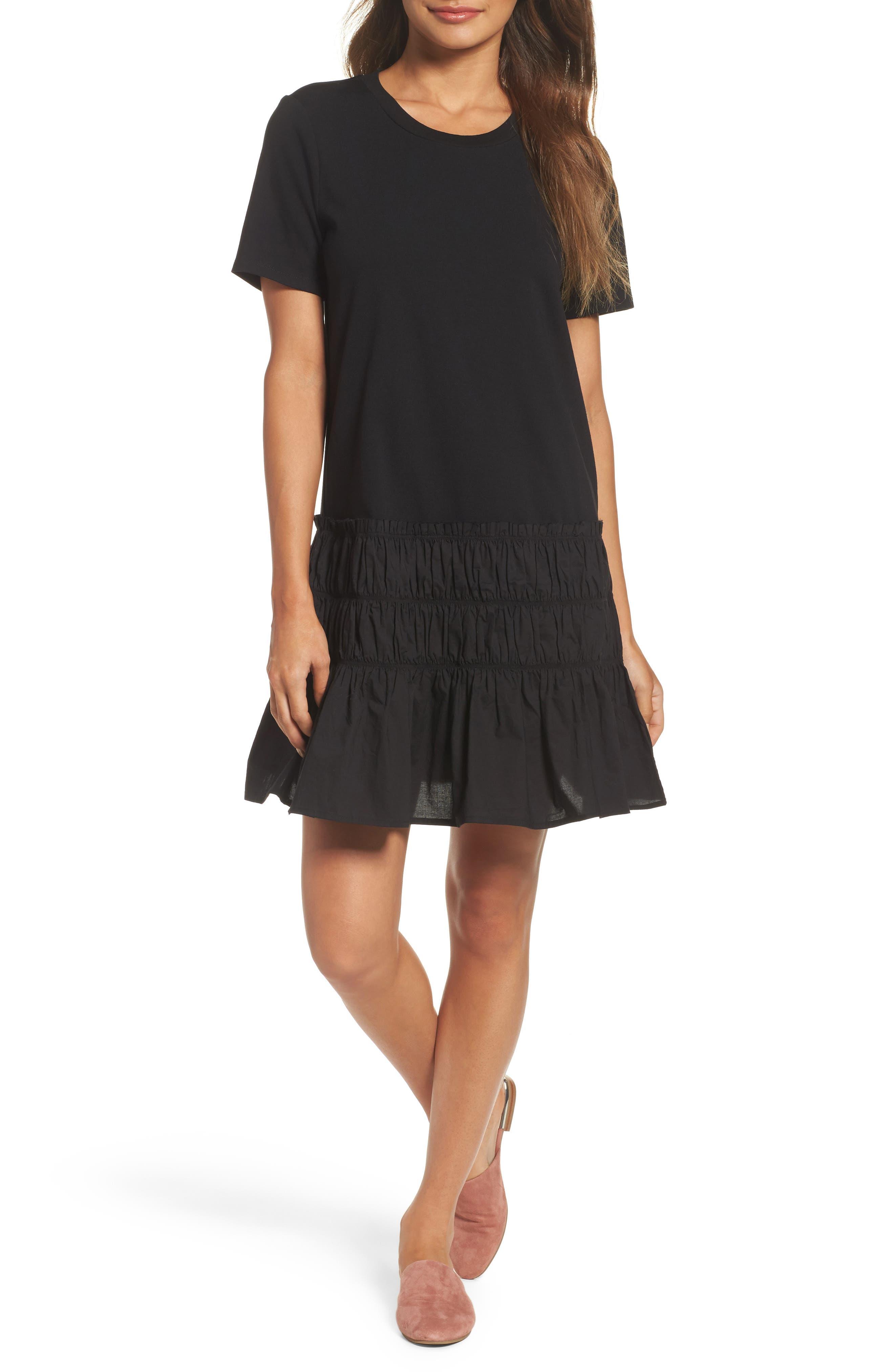 Alternate Image 1 Selected - Chelsea28 Smocked T-Shirt Dress