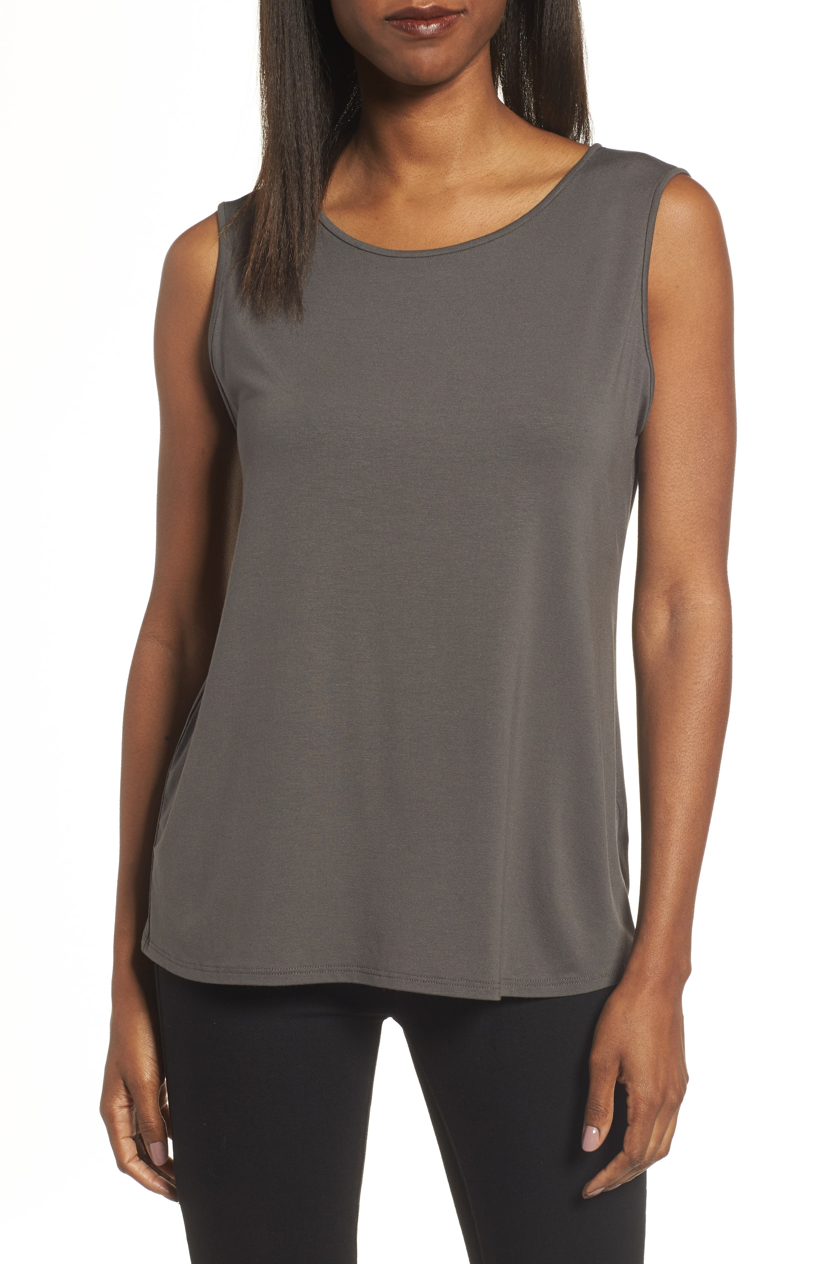 Eileen Fisher Lightweight Jersey Round Neck Tank