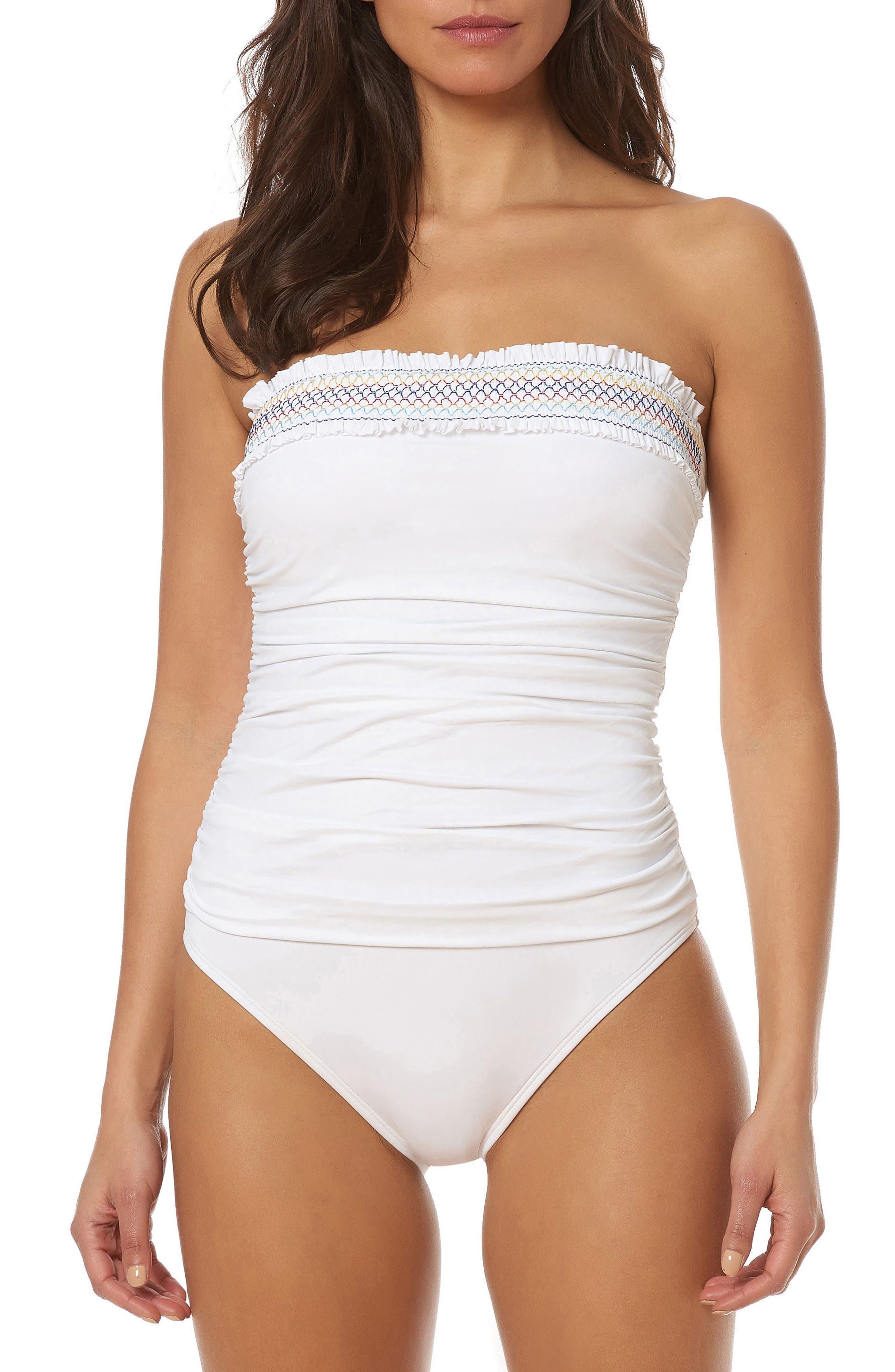 BLEU by Rod Beattie Strapless One-Piece Swimsuit