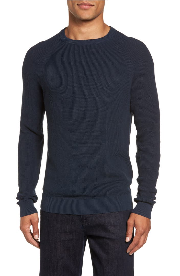 There are clothes you wear for occasions, then there are those you'd rather wear all the time - like our Fleece Crewneck Sweatshirt. Made of premium cotton-polyester blend fleece for snuggly softness, this everyday favorite features a stitched v-inset at the neckline, and ribbed knit .