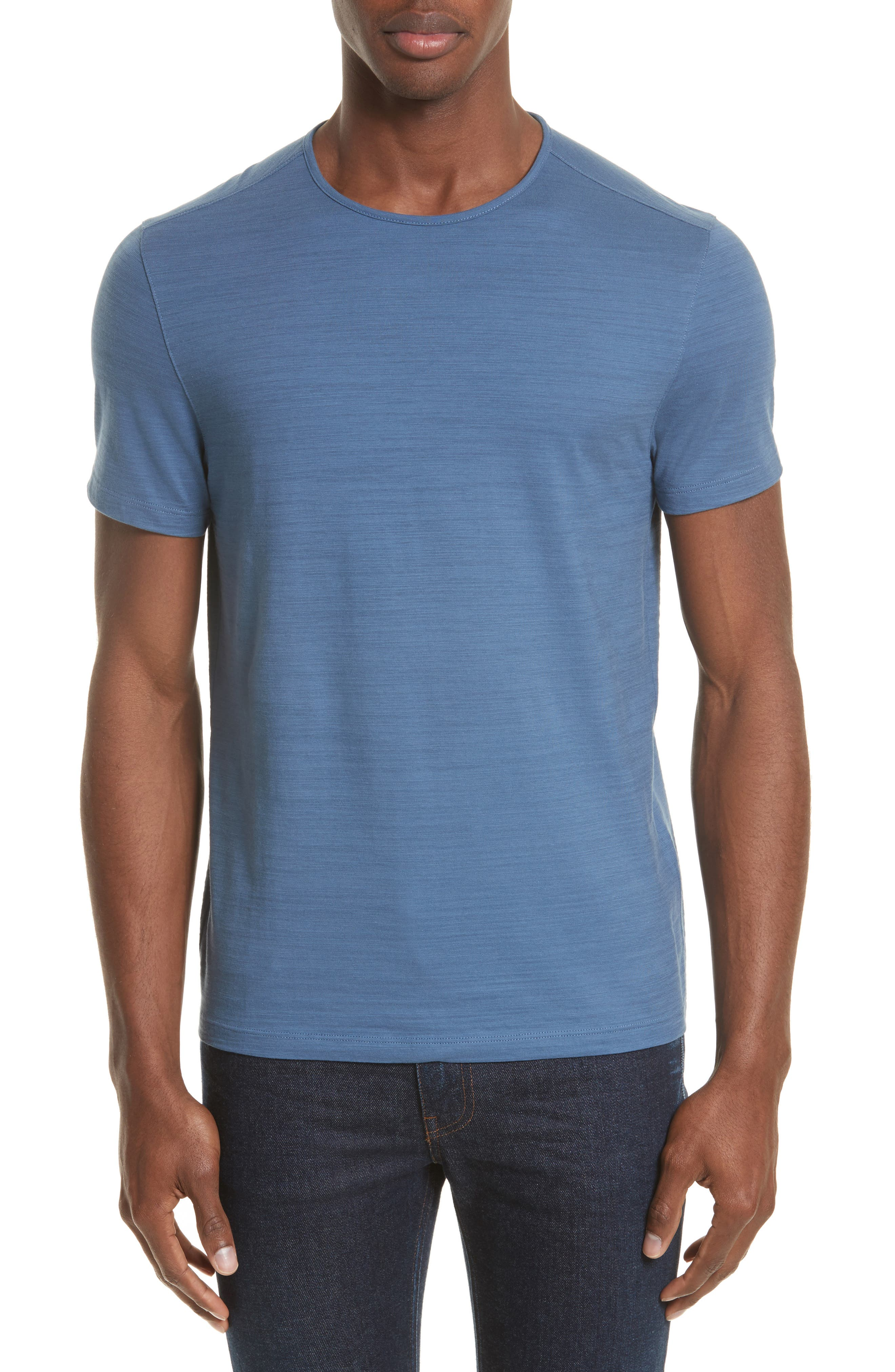 John Varvatos Collection Striated Crewneck T-Shirt