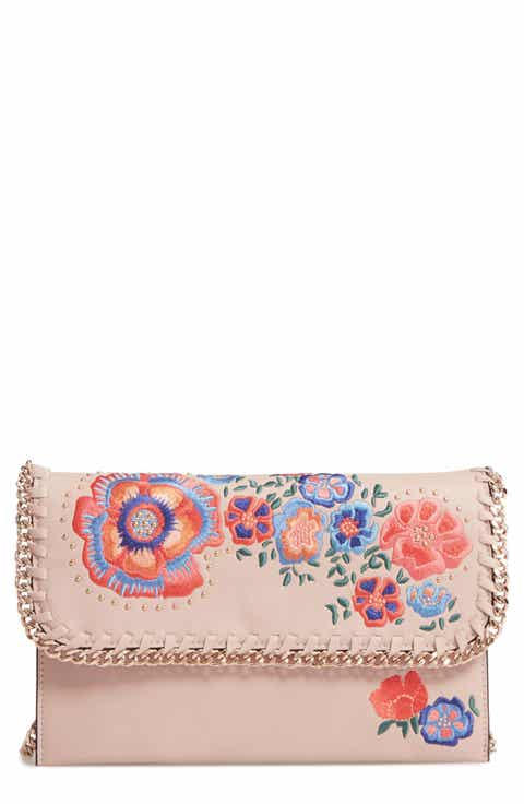 Topshop Chester Floral Faux Leather Crossbody Bag