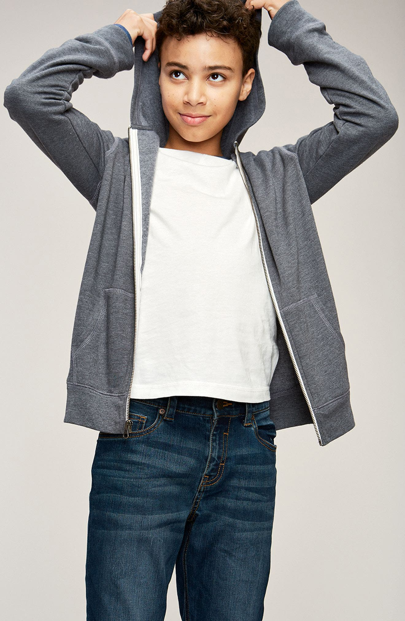 Tucker + Tate Sweatshirt, T-Shirt & Jeans Outfit with Accessories (Big Boys)