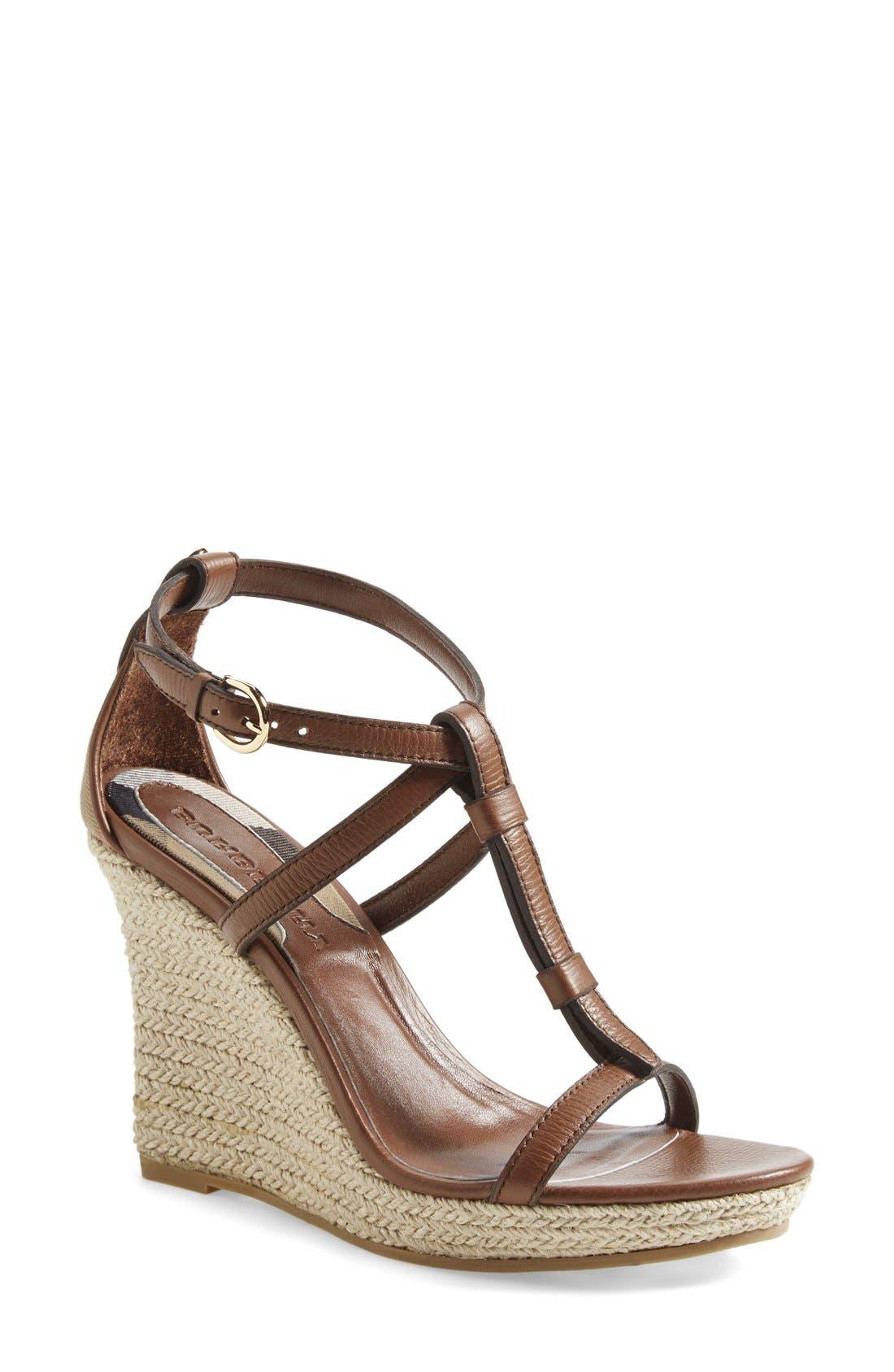 Alternate Image 1 Selected - Burberry 'Wedland' Espadrille Wedge Sandal (Women)