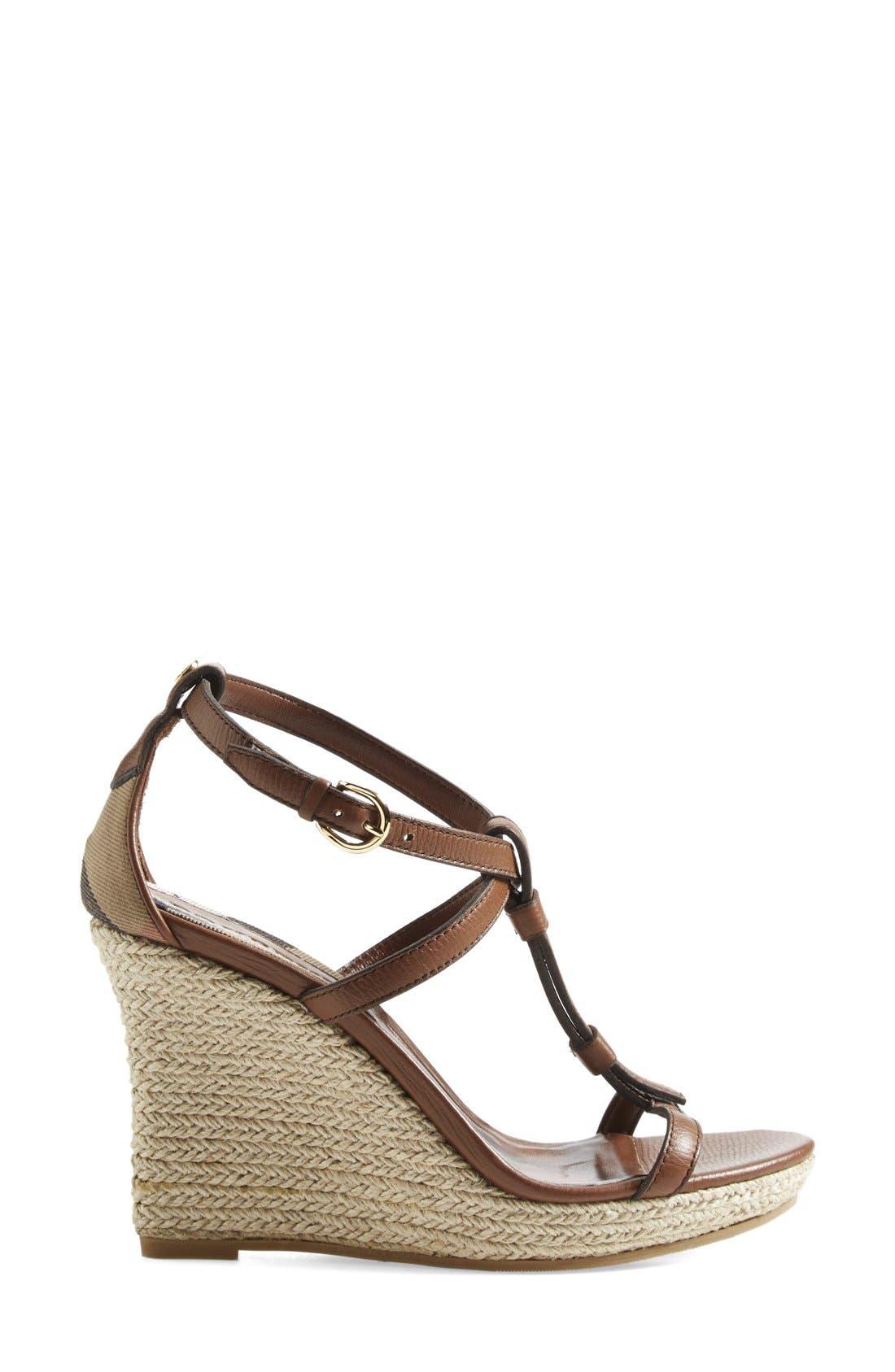Alternate Image 4  - Burberry 'Wedland' Espadrille Wedge Sandal (Women)