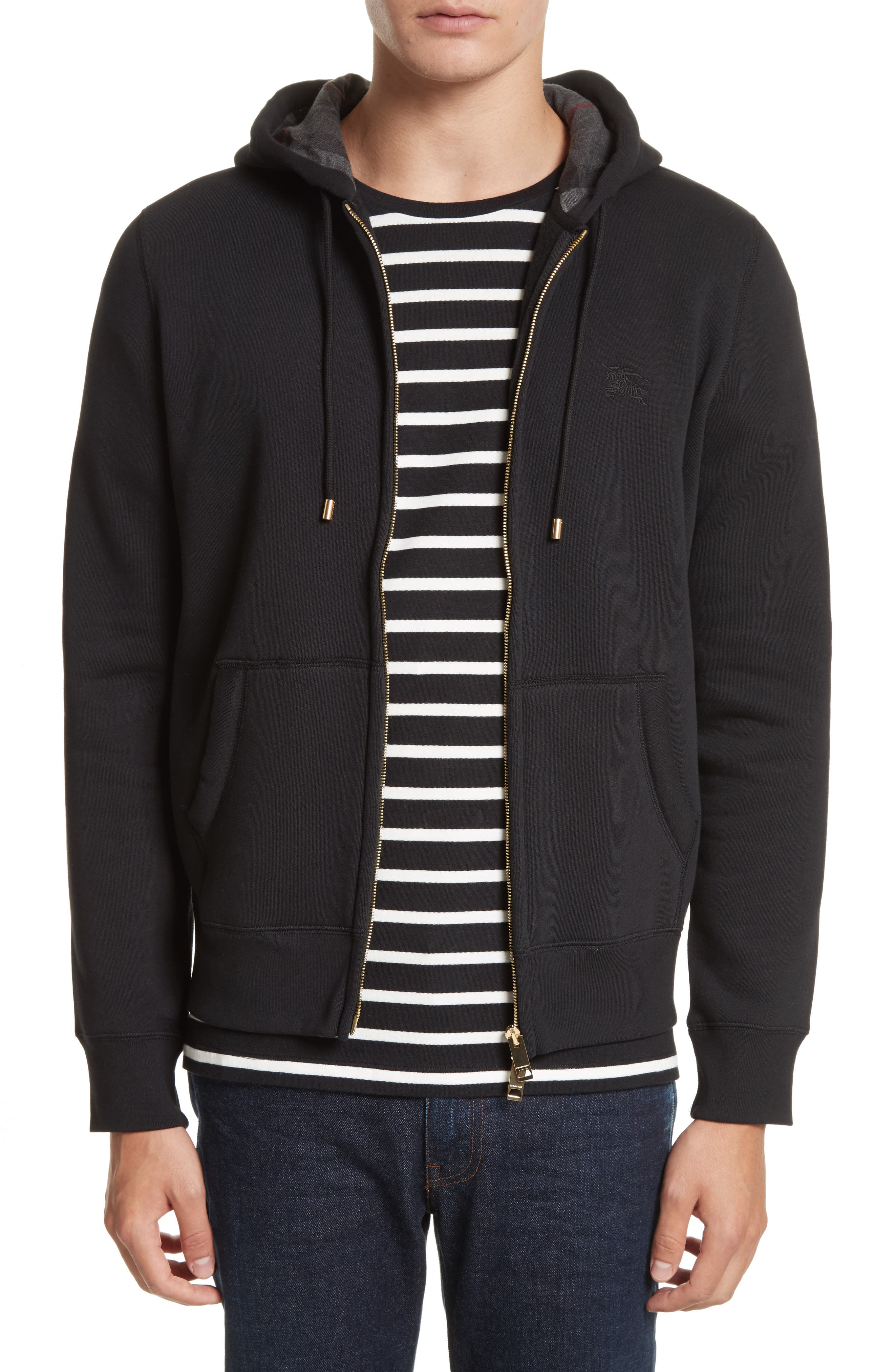 Burberry Claredon Regular Fit Zip Hoodie