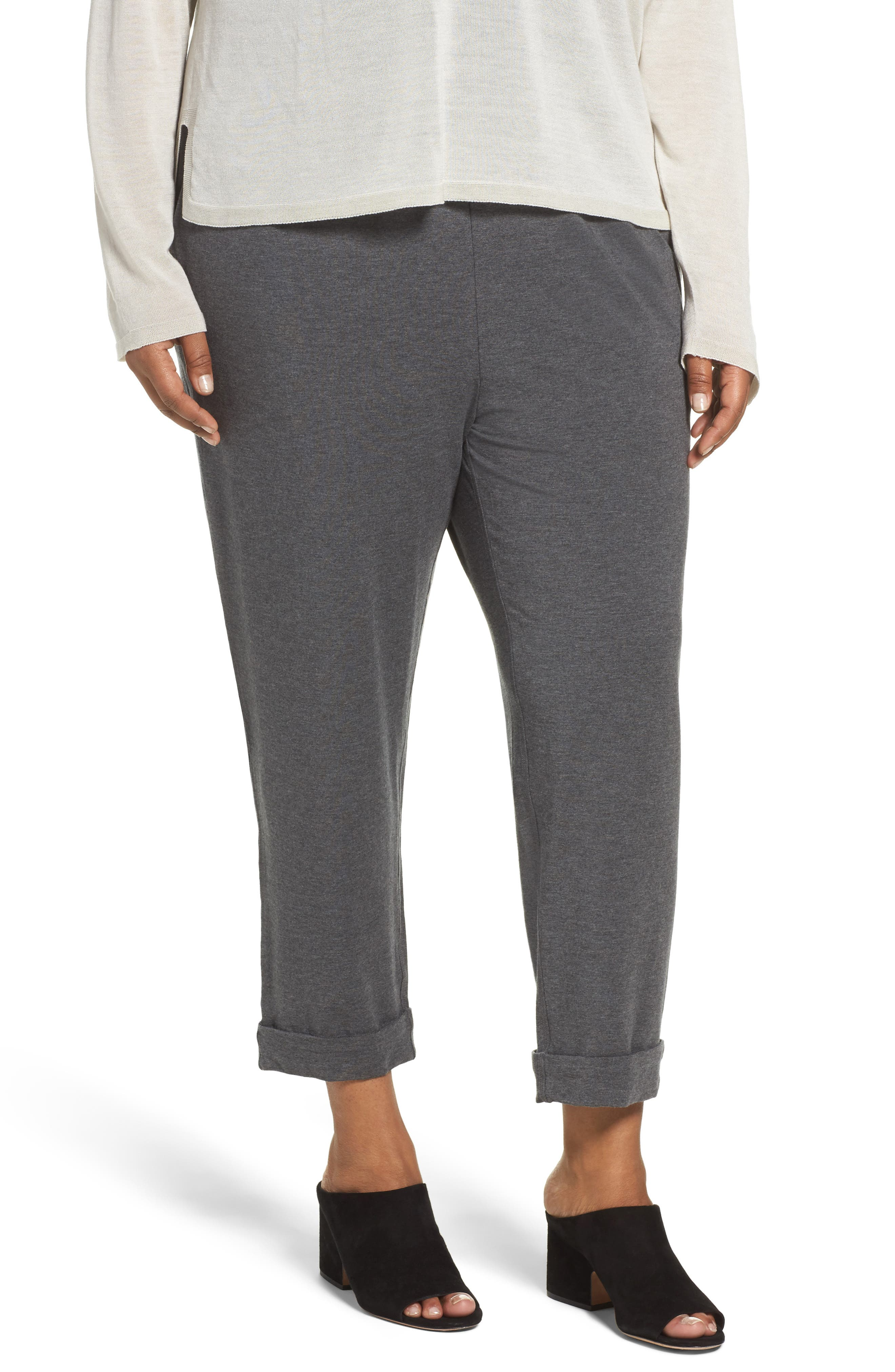 Eileen Fisher Slouchy Stretch Tencel® Pants (Plus Size)