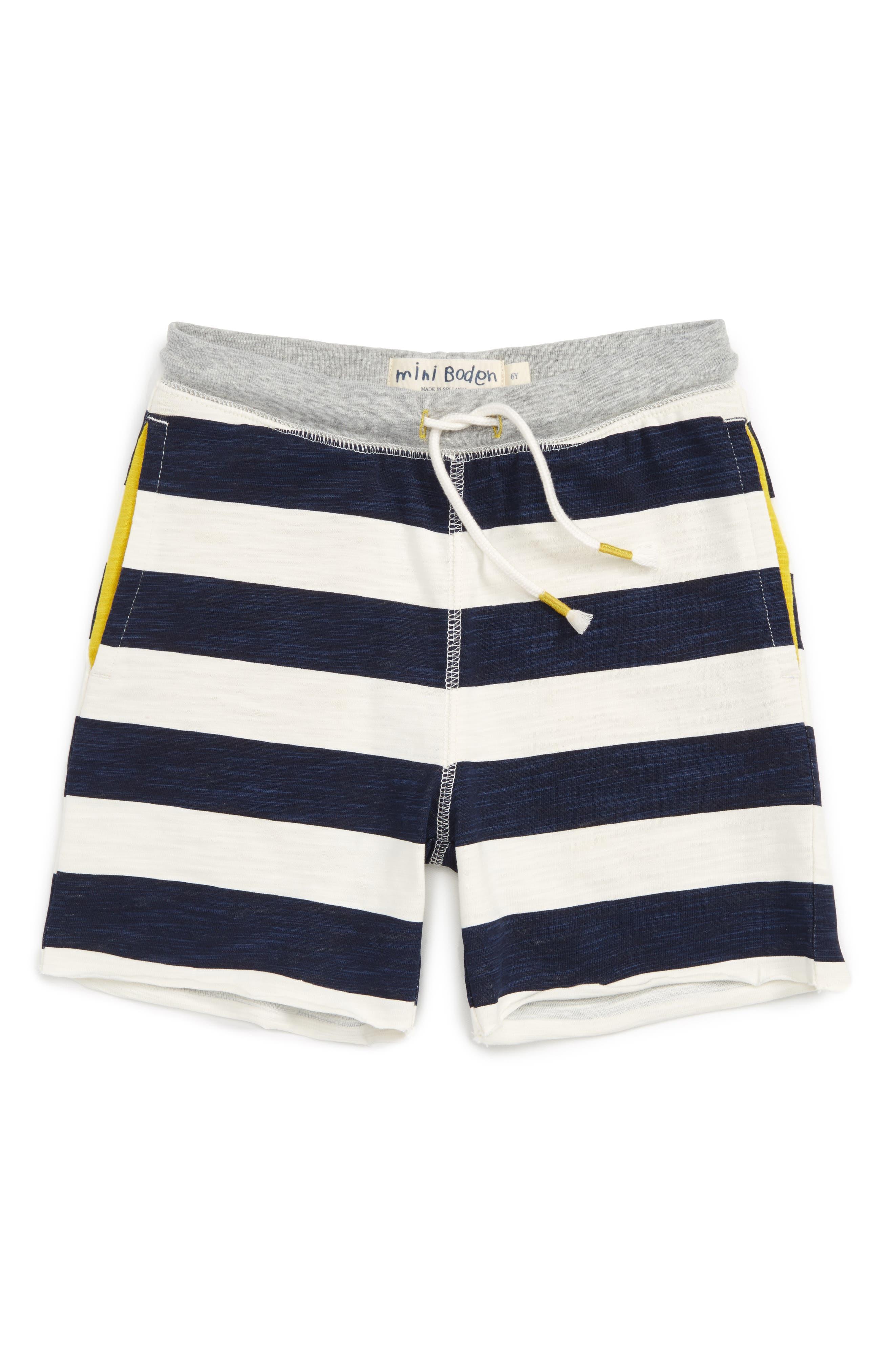 Mini Boden Slub Sweat Shorts (Toddler Boys, Little Boys & Big Boys)