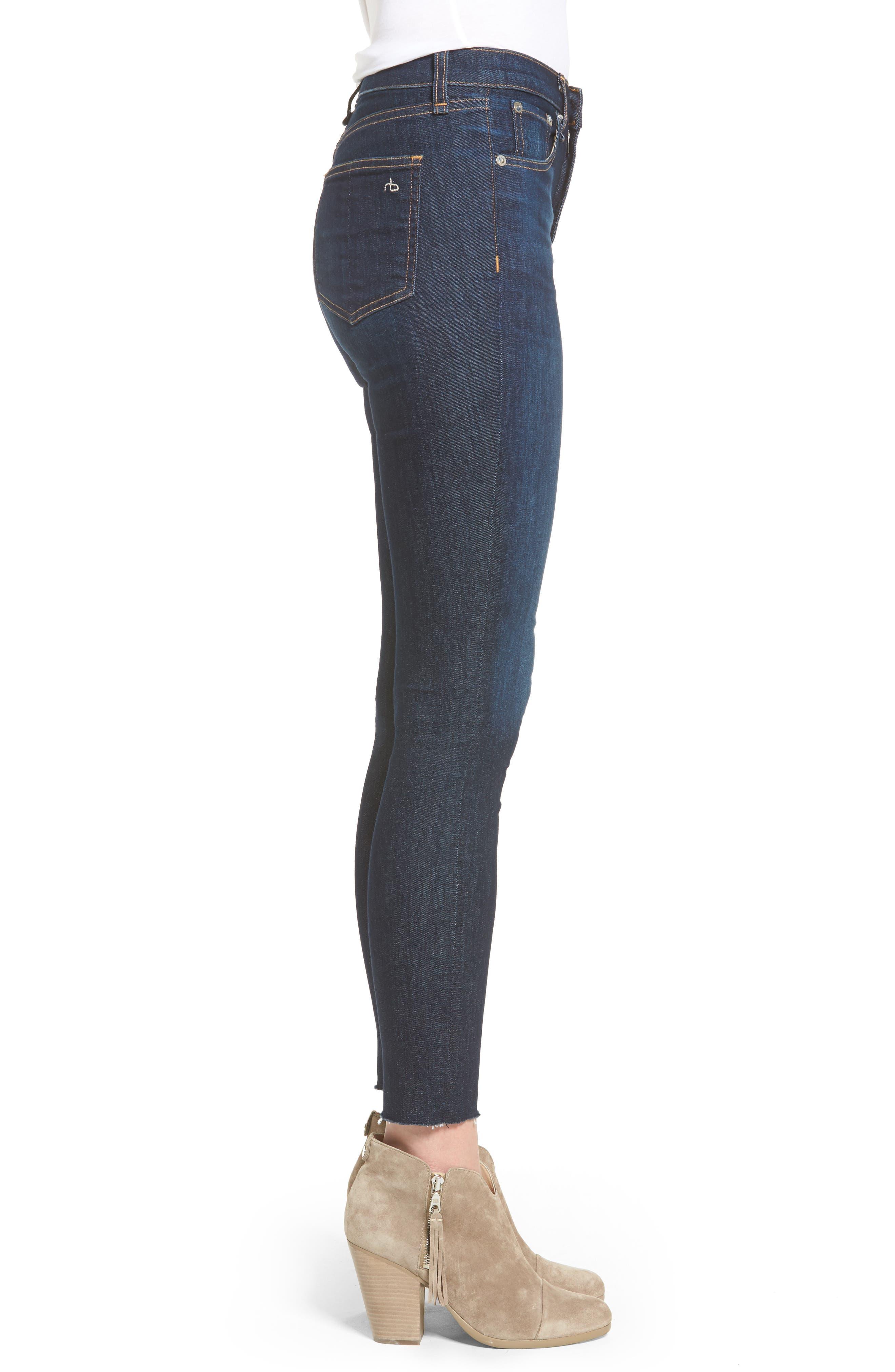 Alternate Image 4  - rag & bone/JEAN High Waist Skinny Ankle Jeans (Mad River)