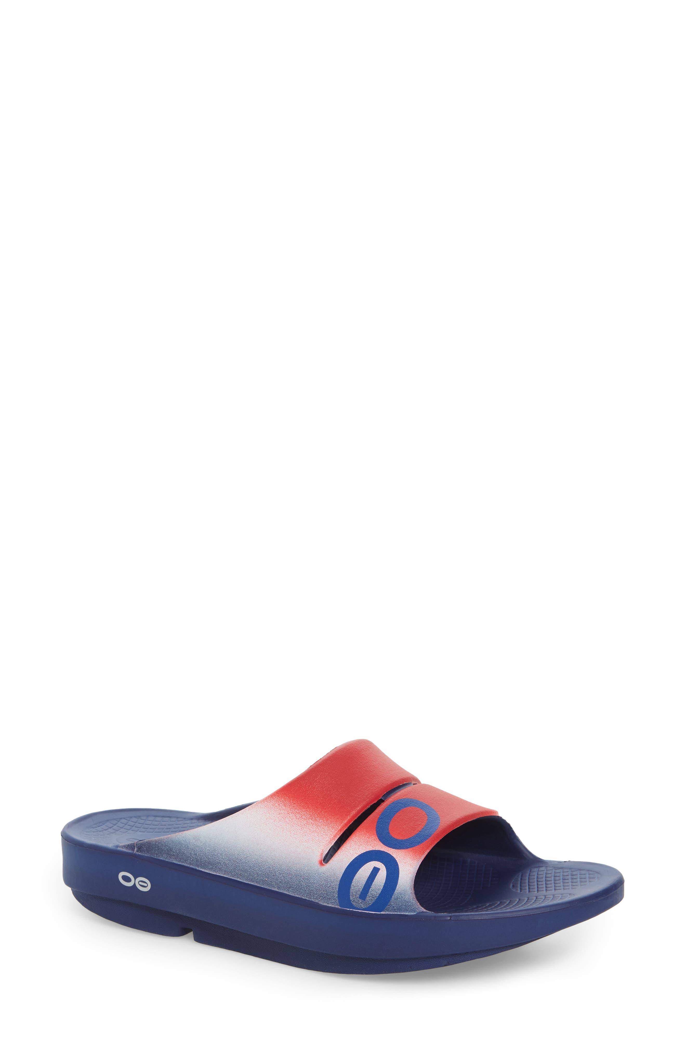 Oofos OOahh Sport Slide Sandal (Women)