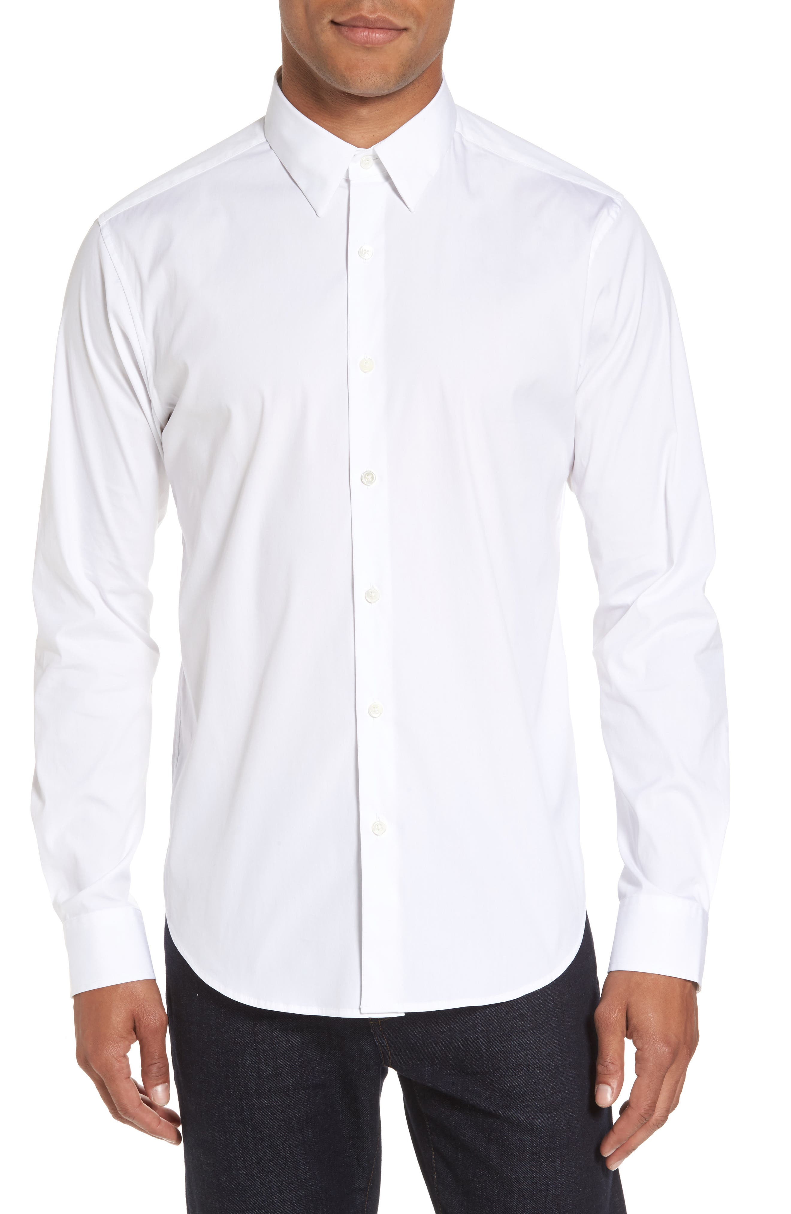Theory Trim Fit Solid Sport Shirt