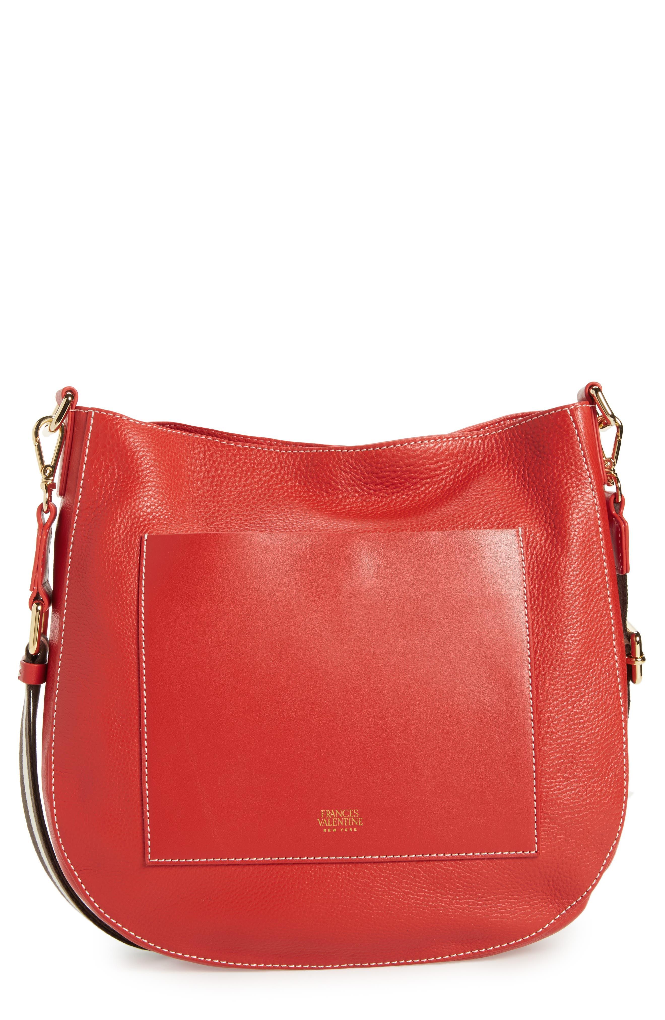 Frances Valentine Large Ellen Leather Crossbody Bag
