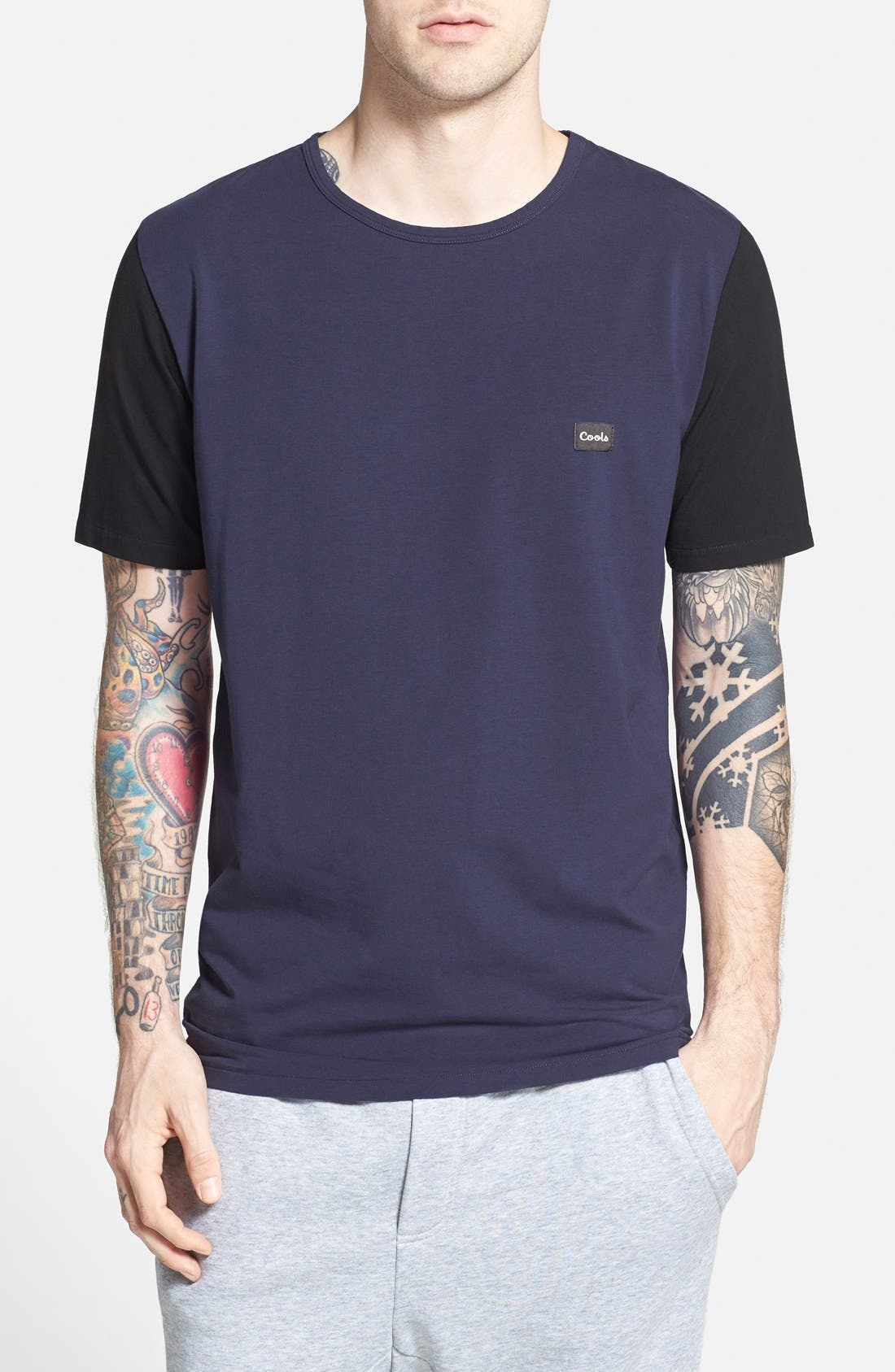 Alternate Image 1 Selected - Barney Cools Stretch Colorblock T-Shirt