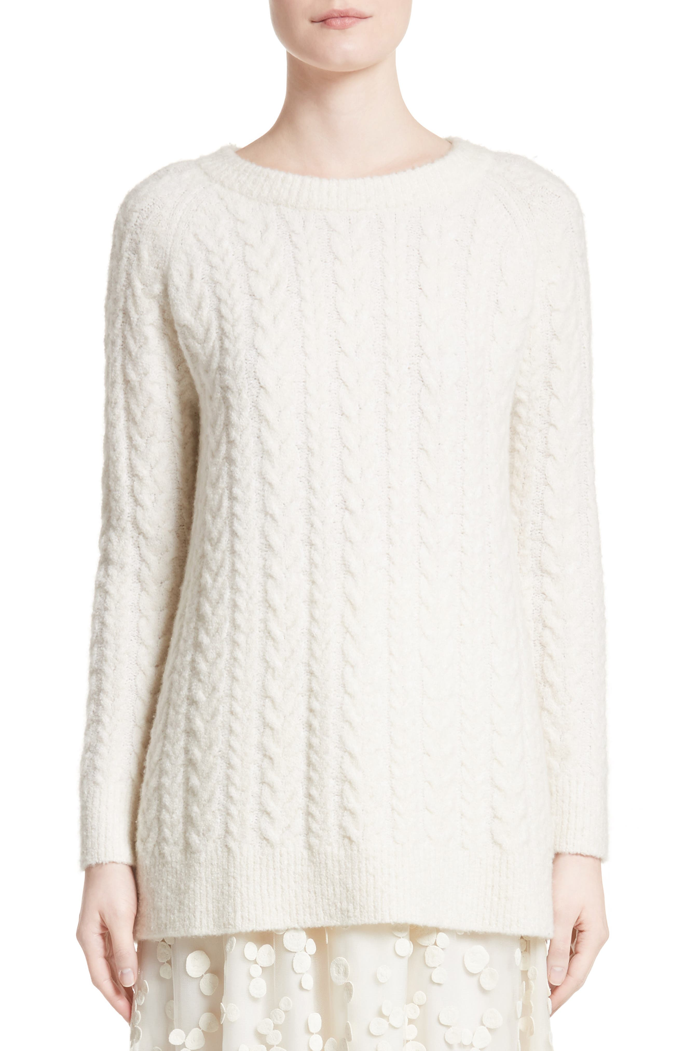 Co Cable Knit Cashmere Blend Sweater