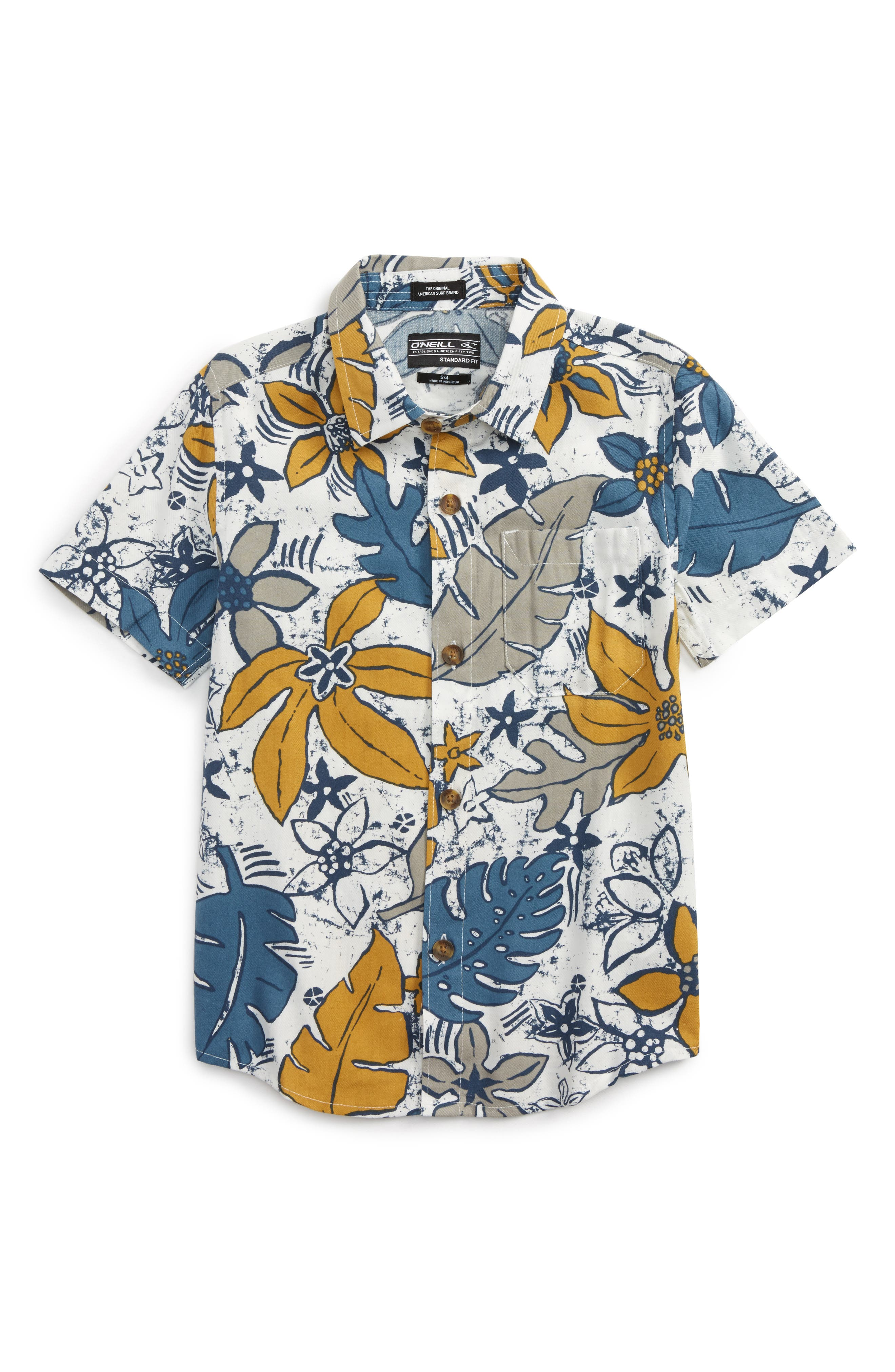 O'Neill Lahaina Tropical Print Woven Shirt (Big Boys)
