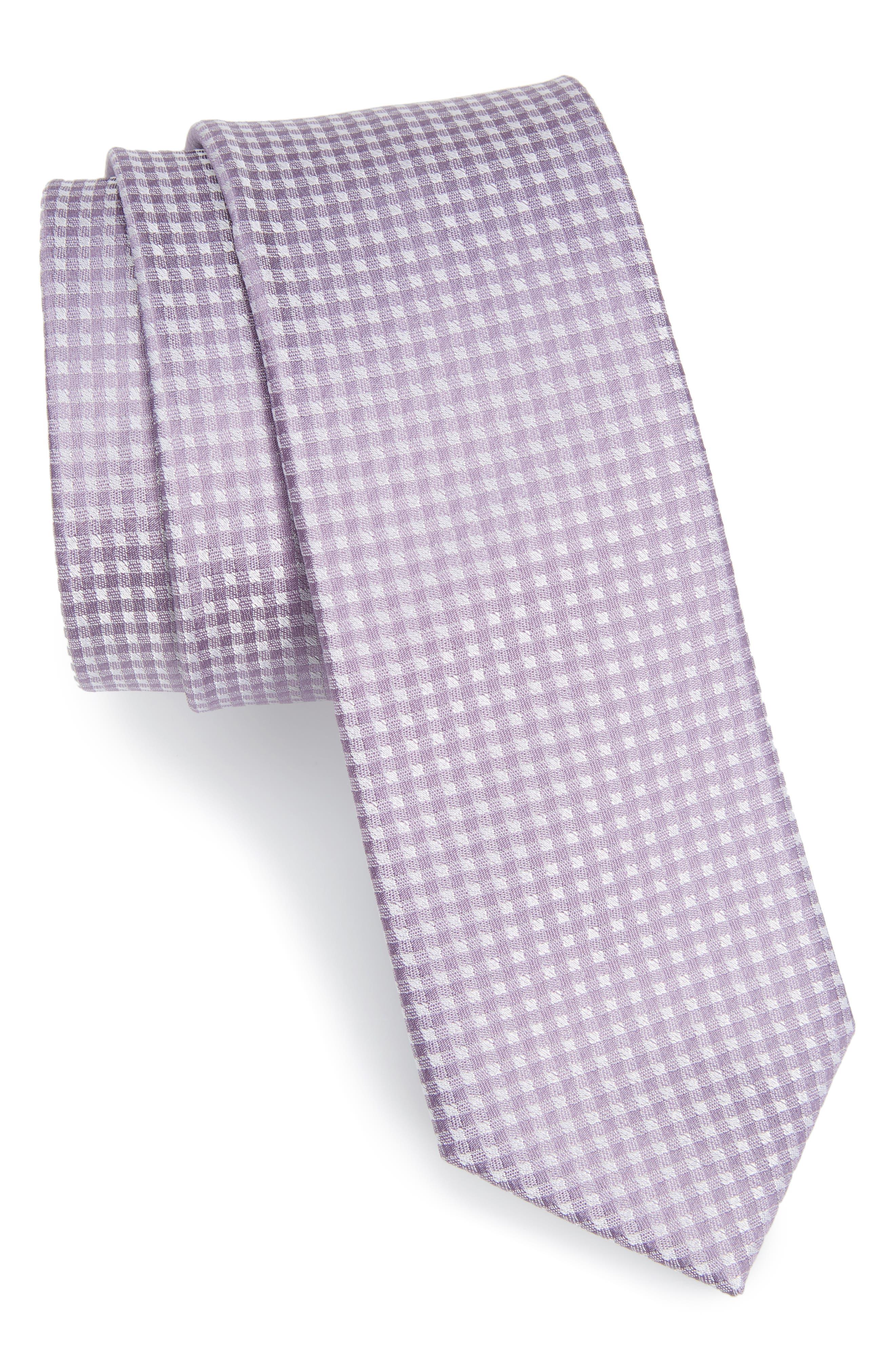 The Tie Bar Check Silk Tie