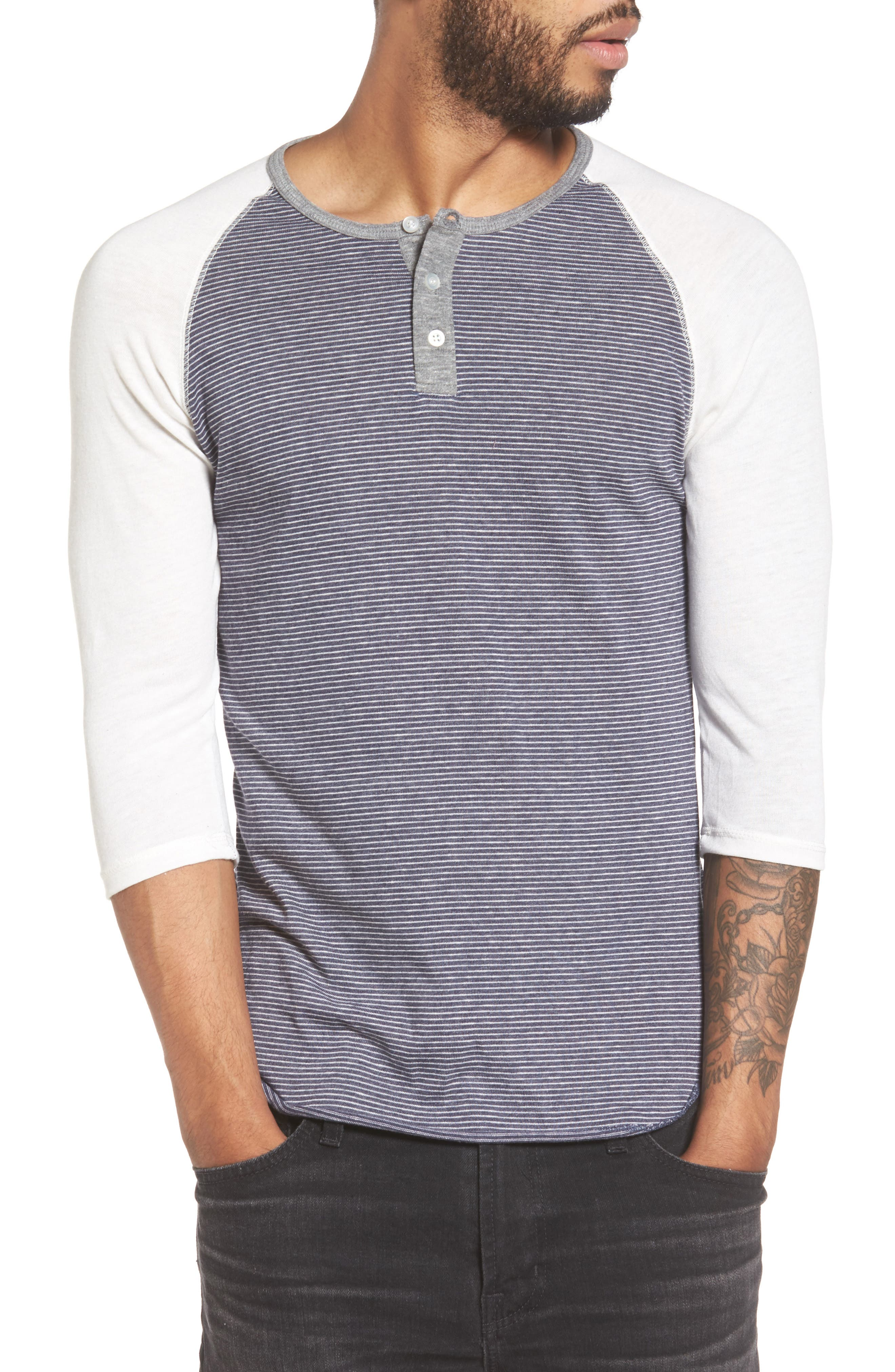 Alternative Raglan Henley Shirt