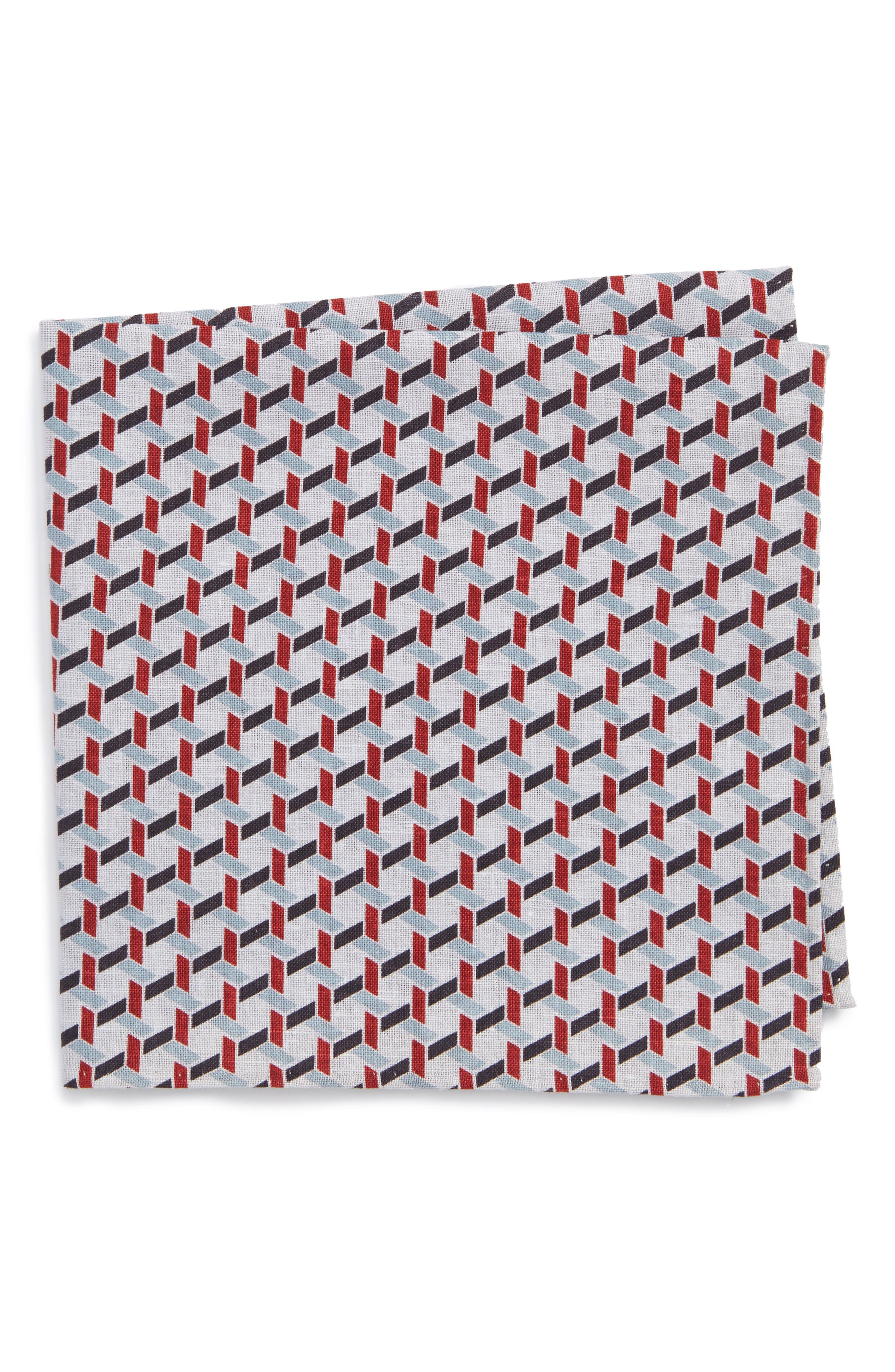 Nordstrom Men's Shop Gallo Geometric Pocket Square
