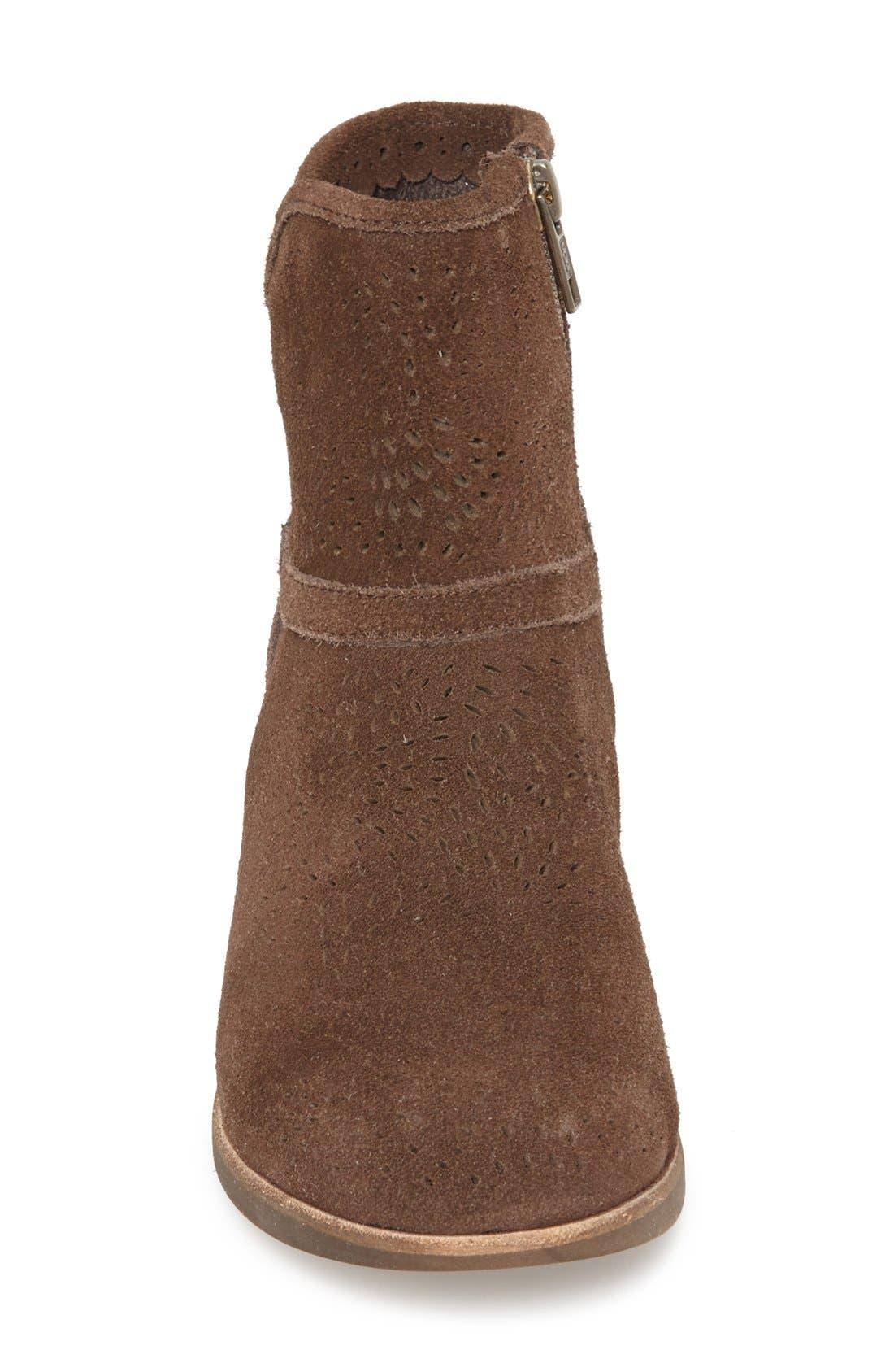 Alternate Image 3  - UGG® Australia 'Darling Seaweed' Perforated Suede Boot (Women)