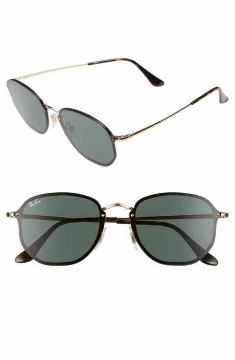 Ray-Ban 58mm Round Sunglasses