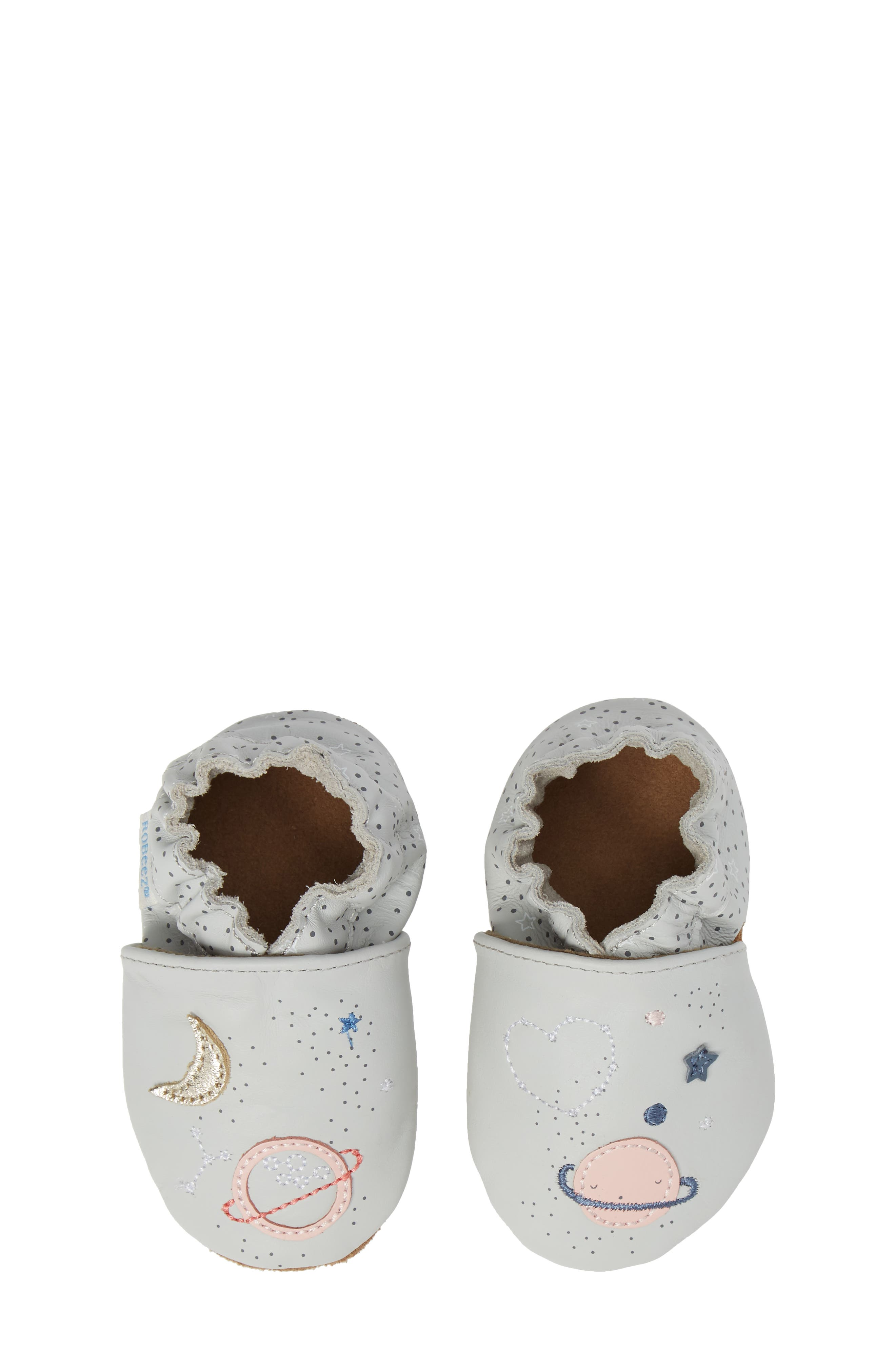Robeez® Over the Moon Crib Shoe (Baby)