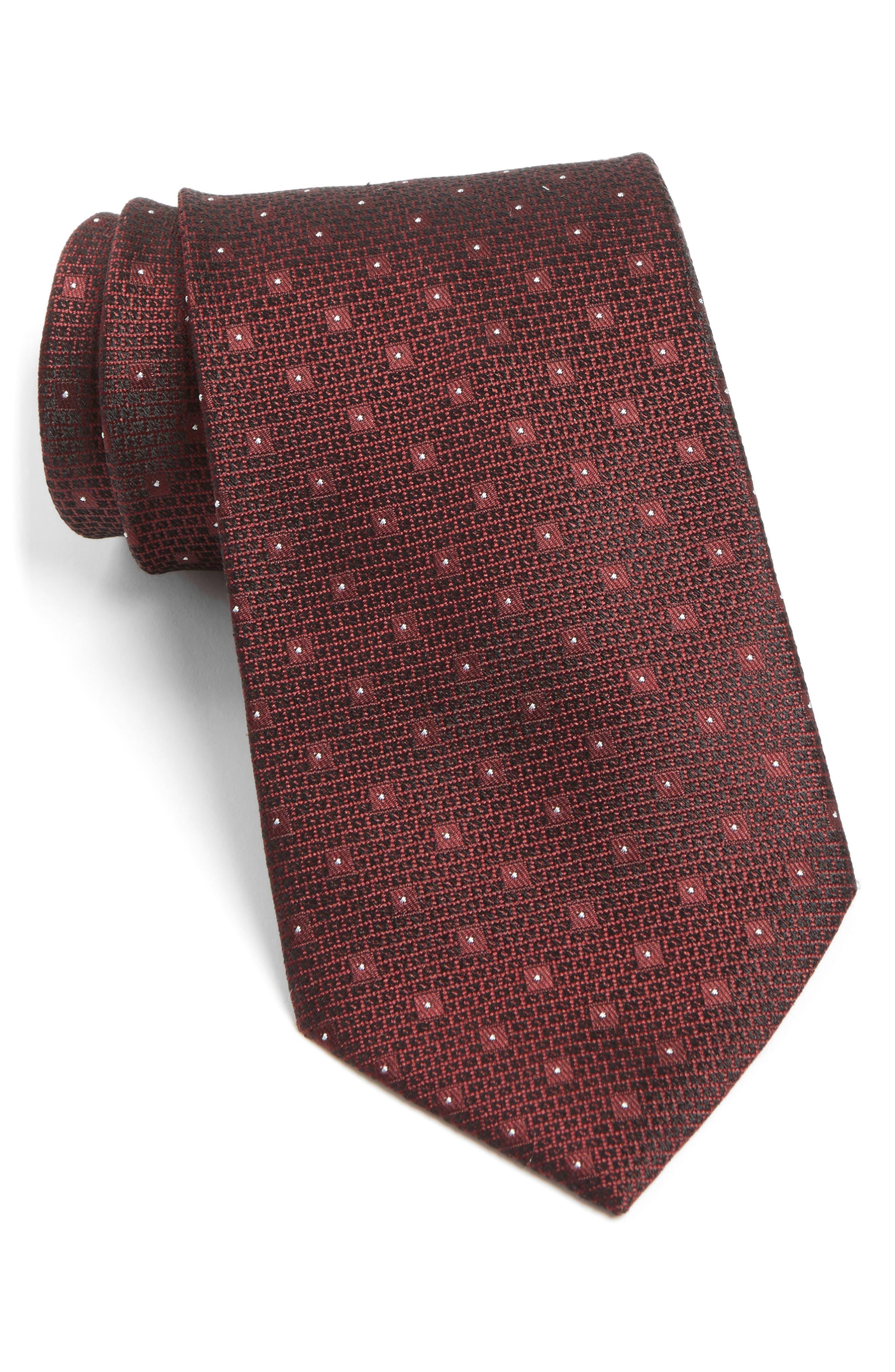 John Varvatos Star USA Dot Silk Tie