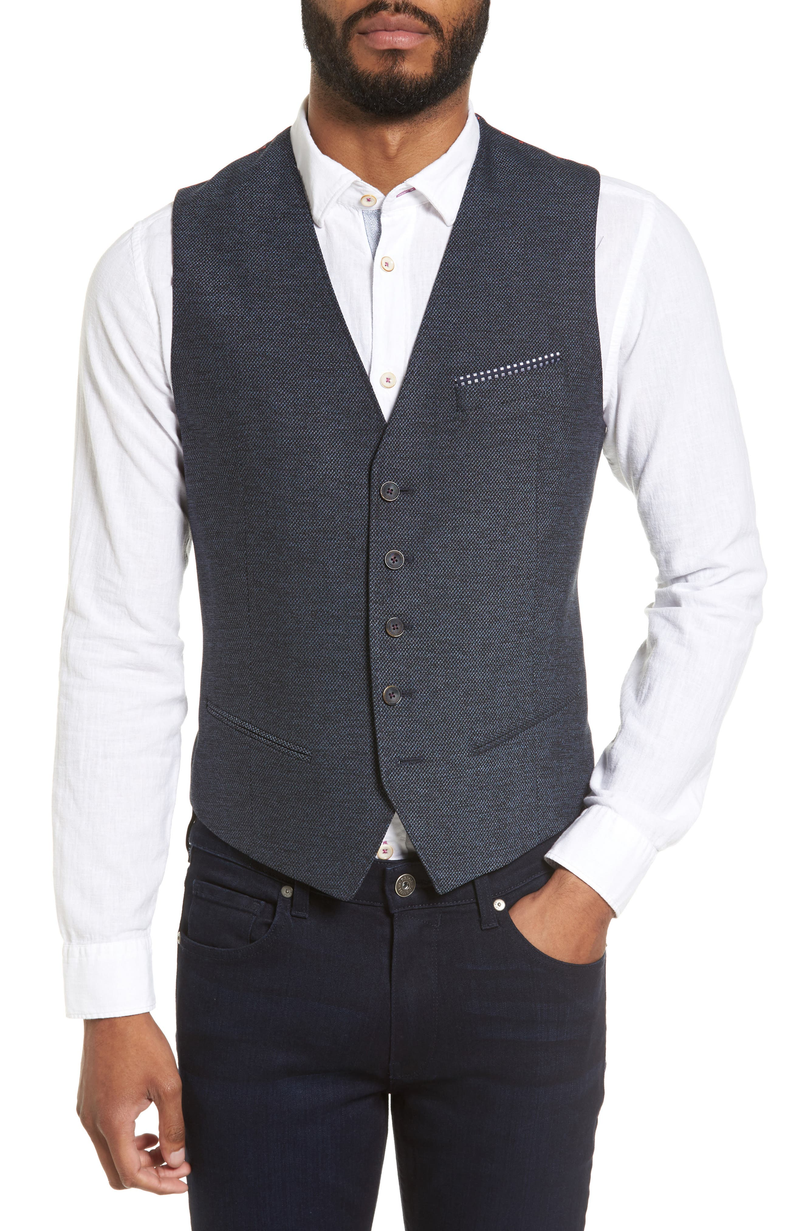 Ted Baker London Portwai Semi Plain Vest