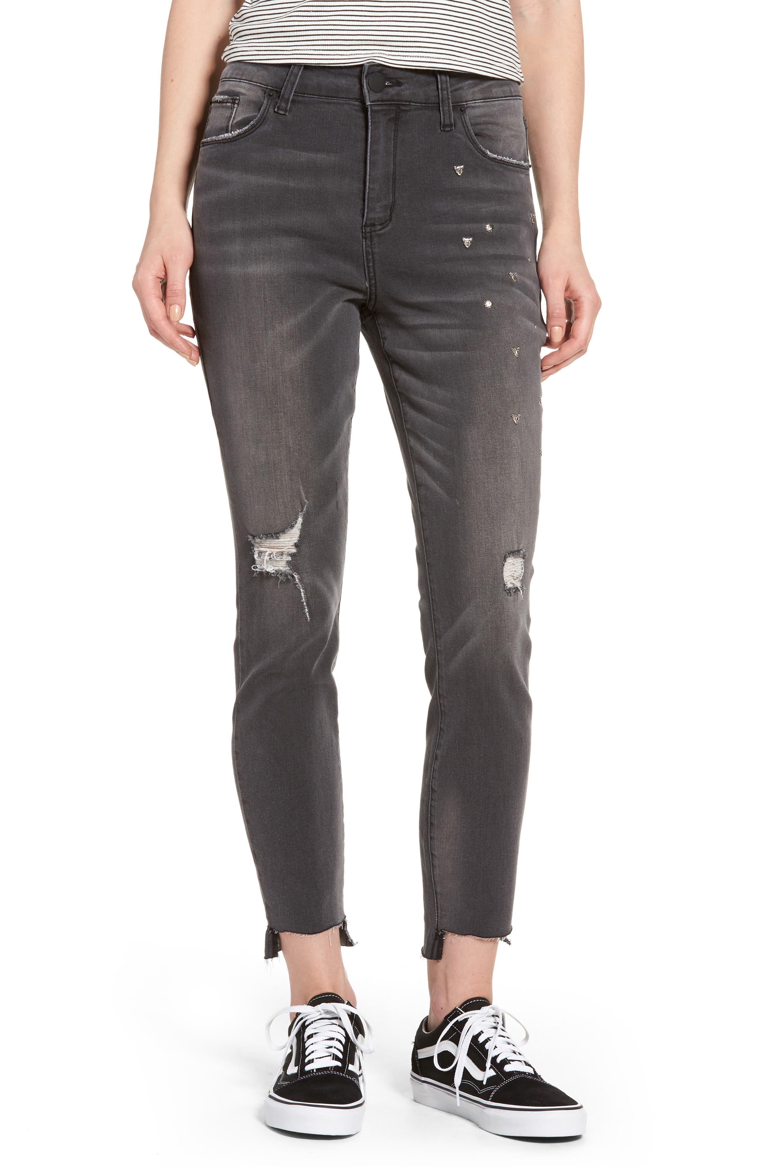 STS Blue Ashley Studded Step Hem Jeans (Brayton)