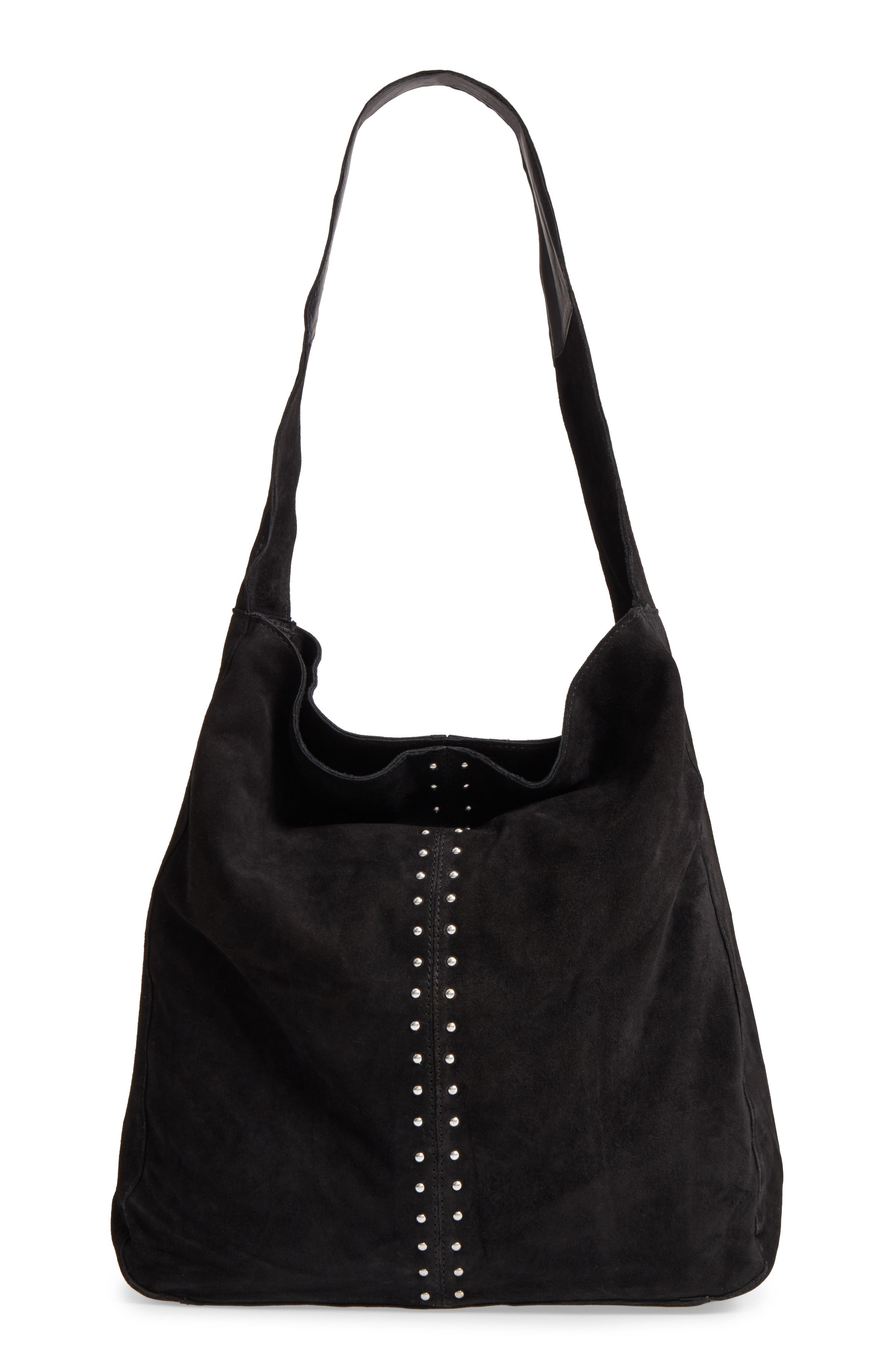 Topshop Sienna Studded Leather Hobo