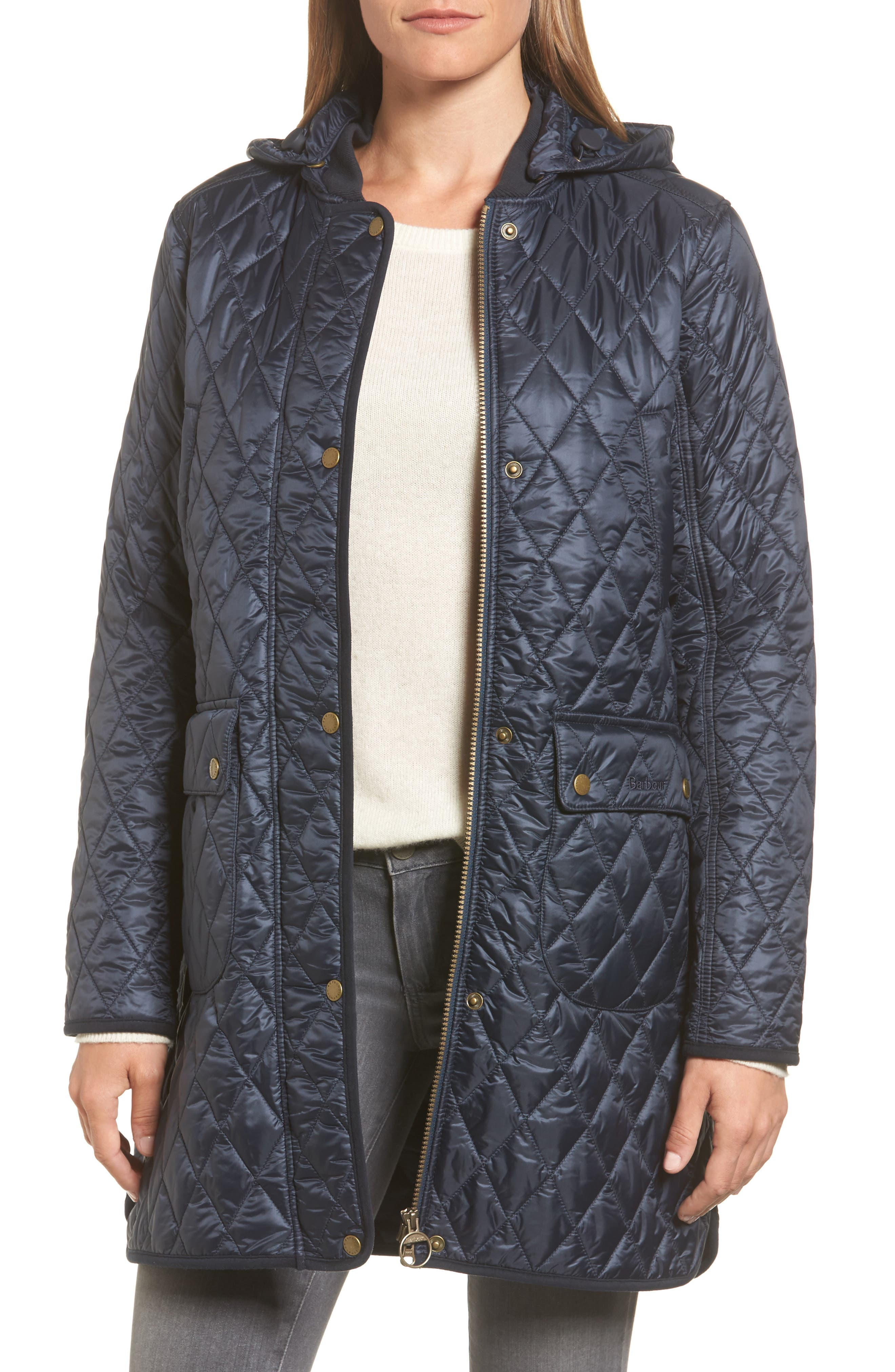 jacket a quilt coat s quilted black long tessuti unsharp froccella qlt product padded te women