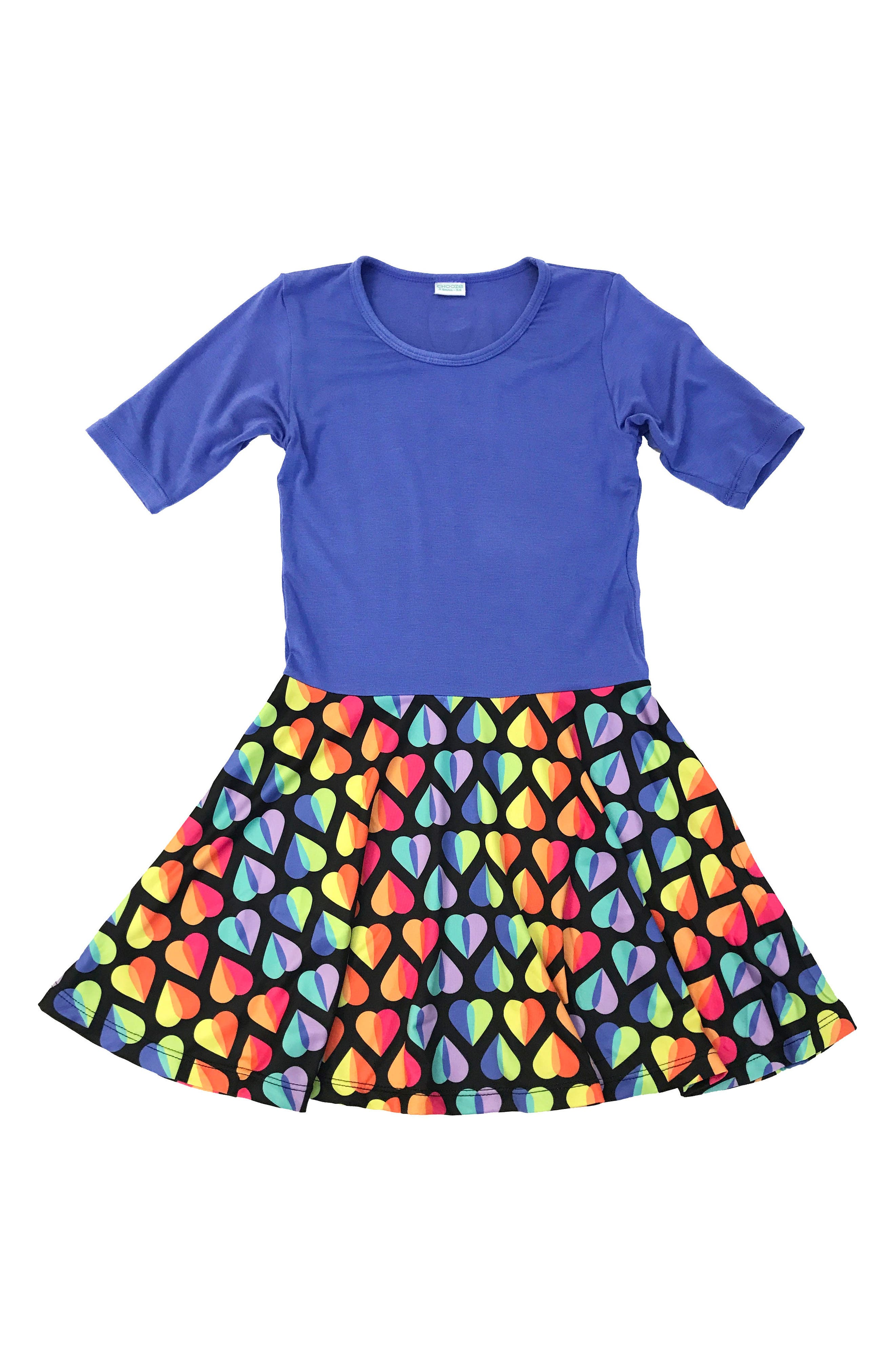 CHOOZE Spree Mixed Print Dress (Little Girls & Big Girls)