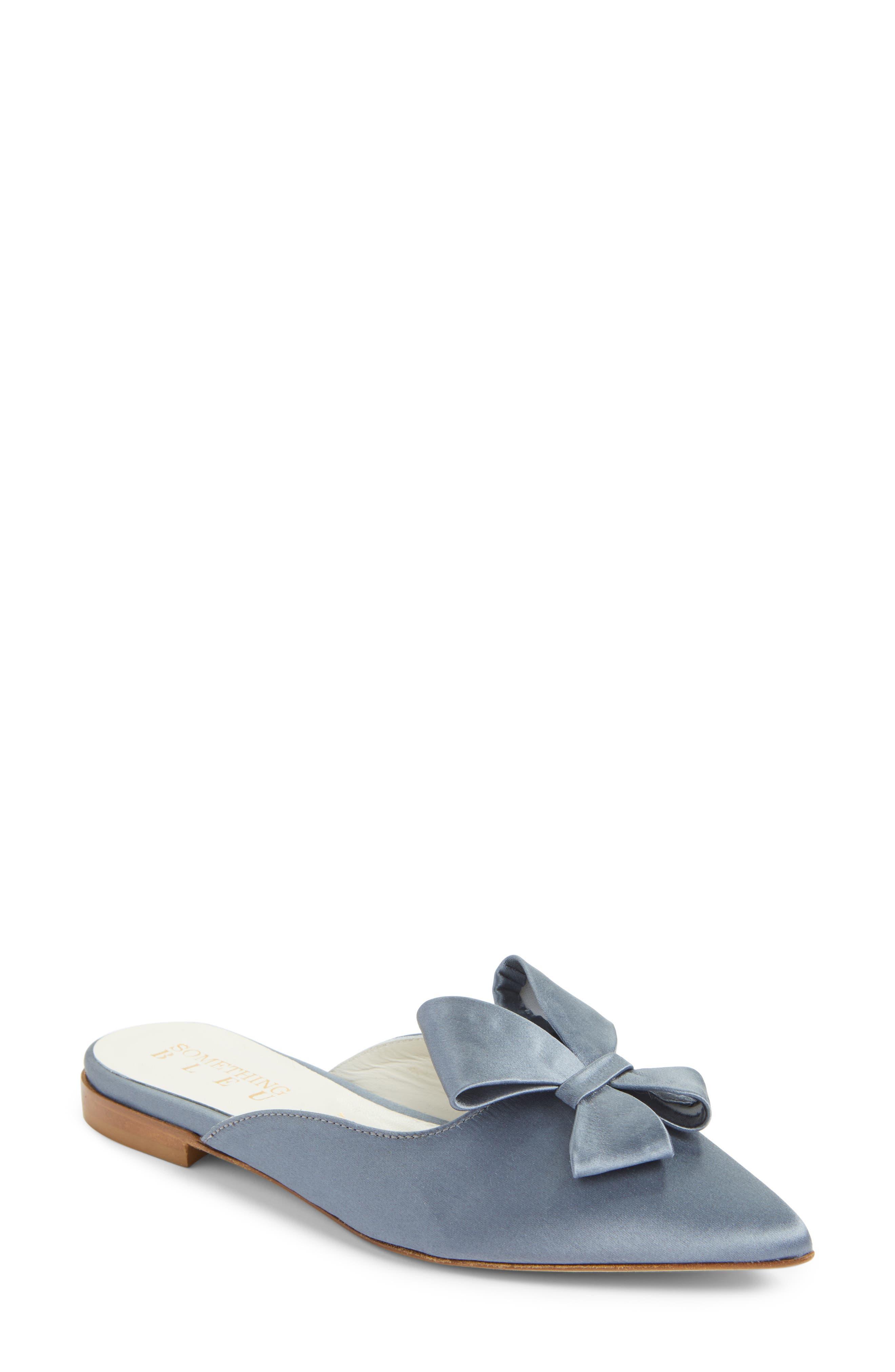 Something Bleu Bow Loafer Mule (Women)