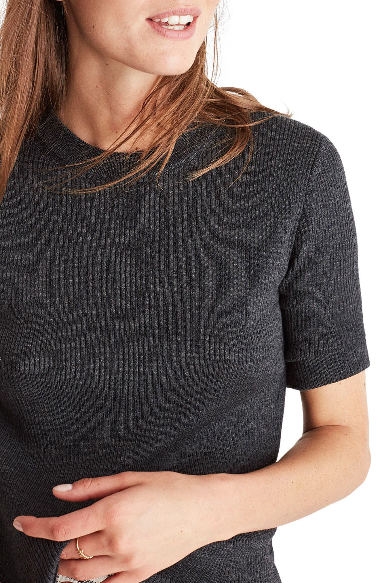 Madewell 'Slim Jim' Rib Knit Merino Wool Sweater