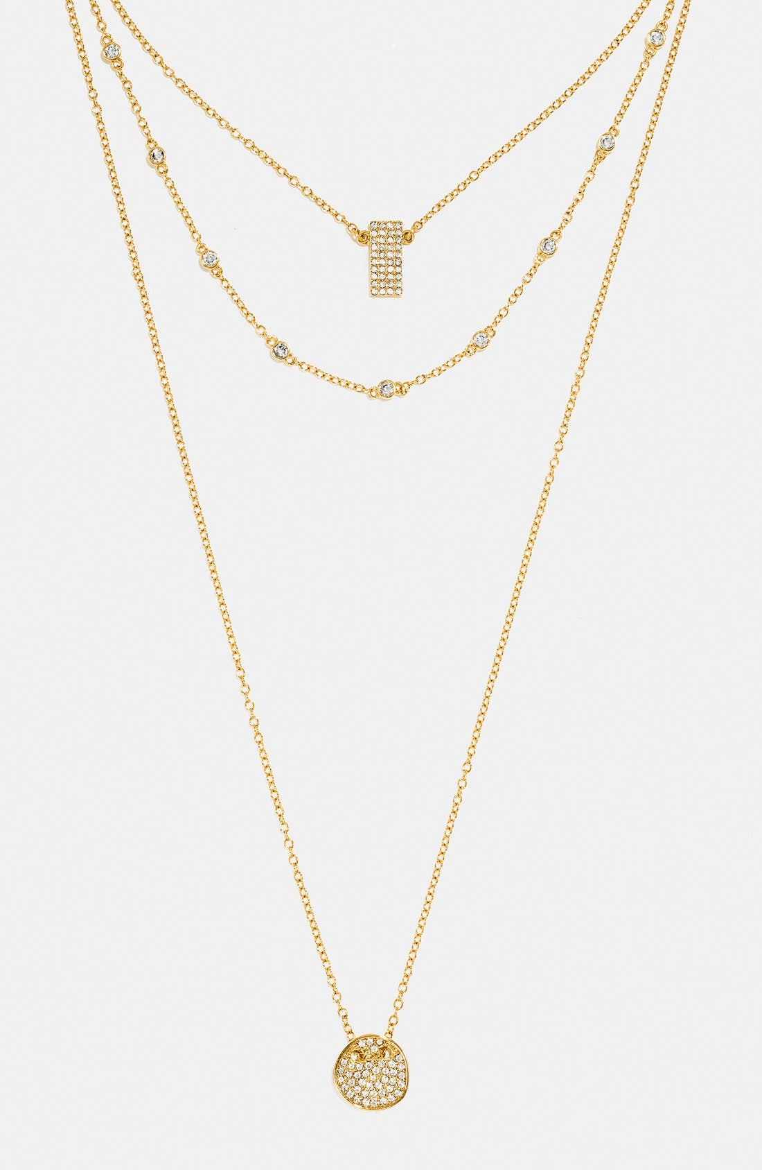 Alternate Image 1 Selected - BaubleBar 'Ice' Layer Necklace