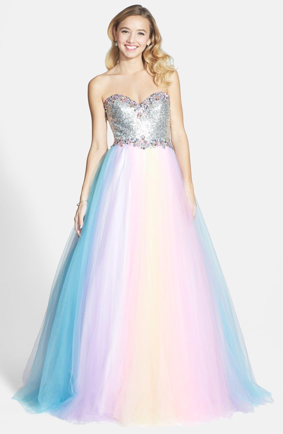 Alternate Image 1 Selected - Mac Duggal Rainbow Gown