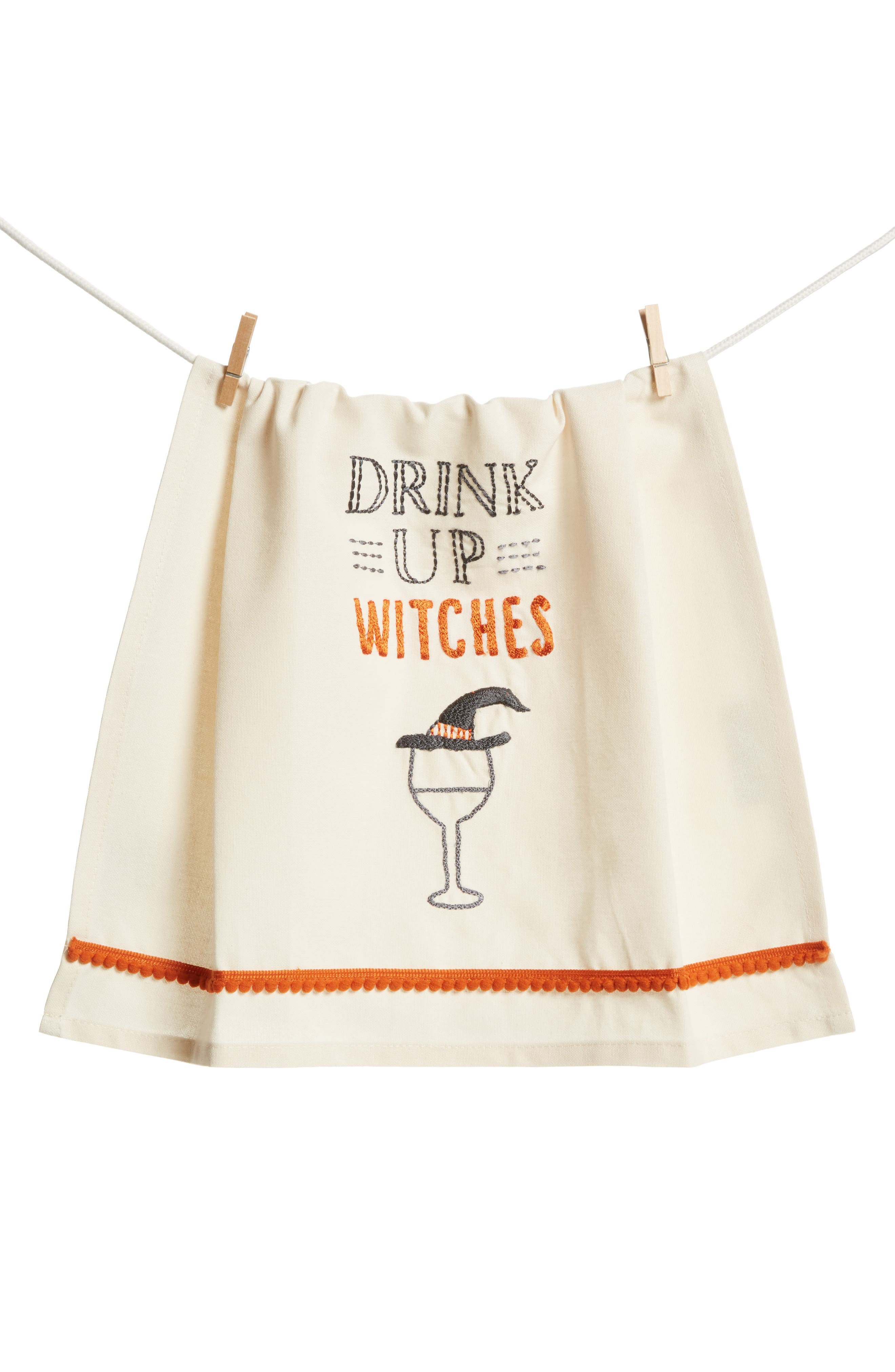 Primitives by Kathy Drink Up Witches Dish Towel