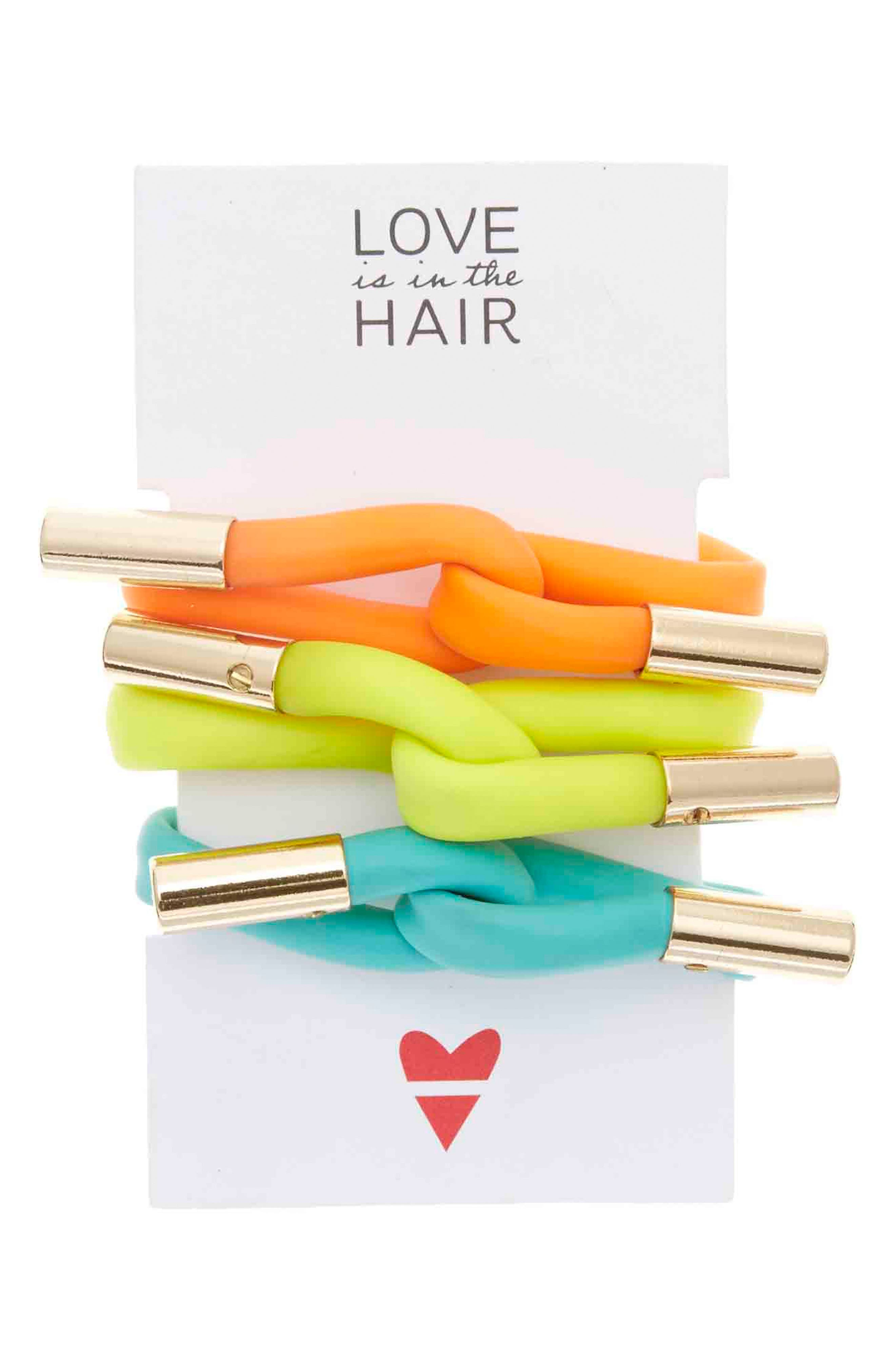 Love Is In The Hair Beach 3-Pack Twister Hair Ties