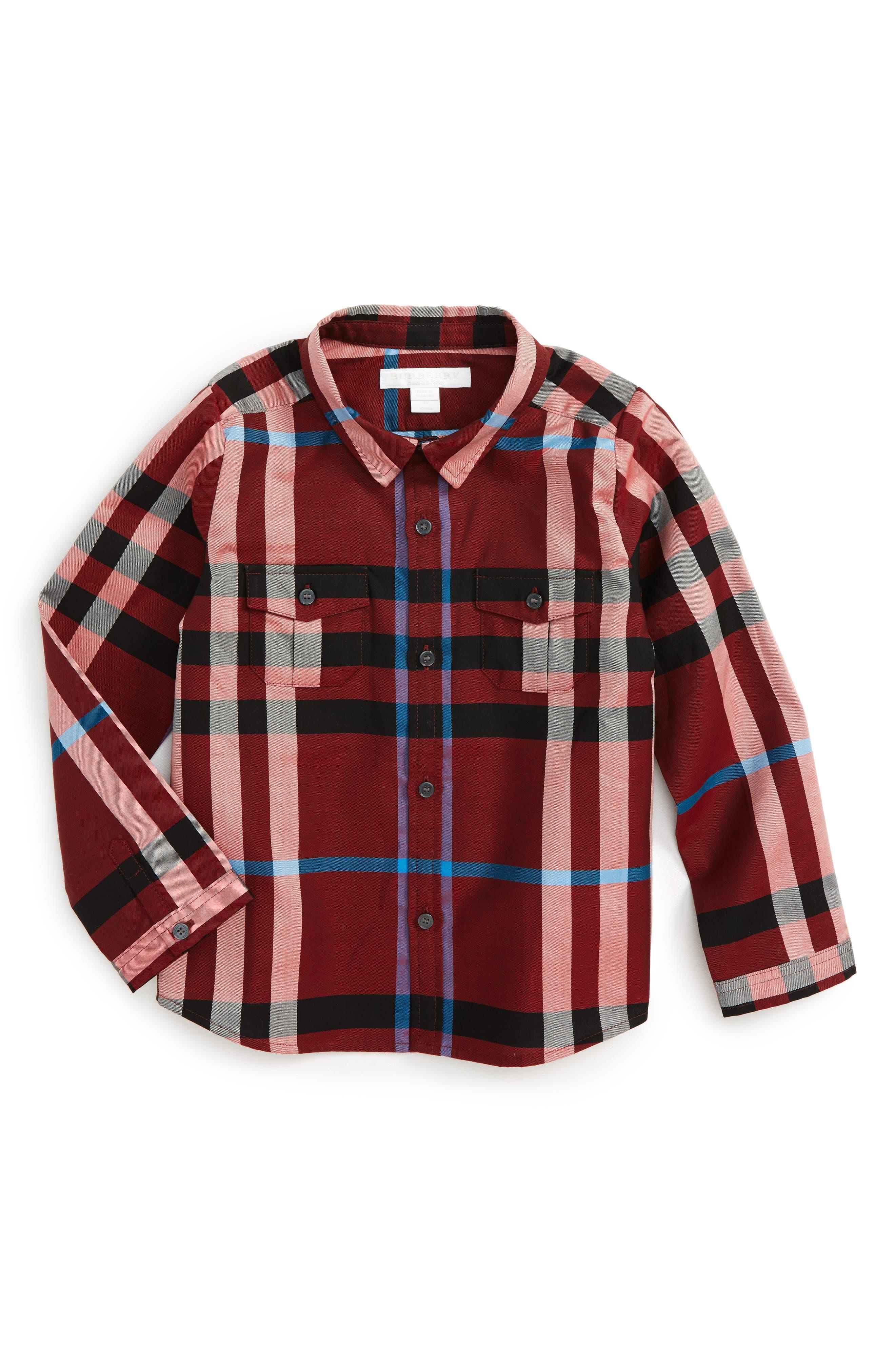 Burberry Trenta Plaid Woven Shirt (Baby Boys)