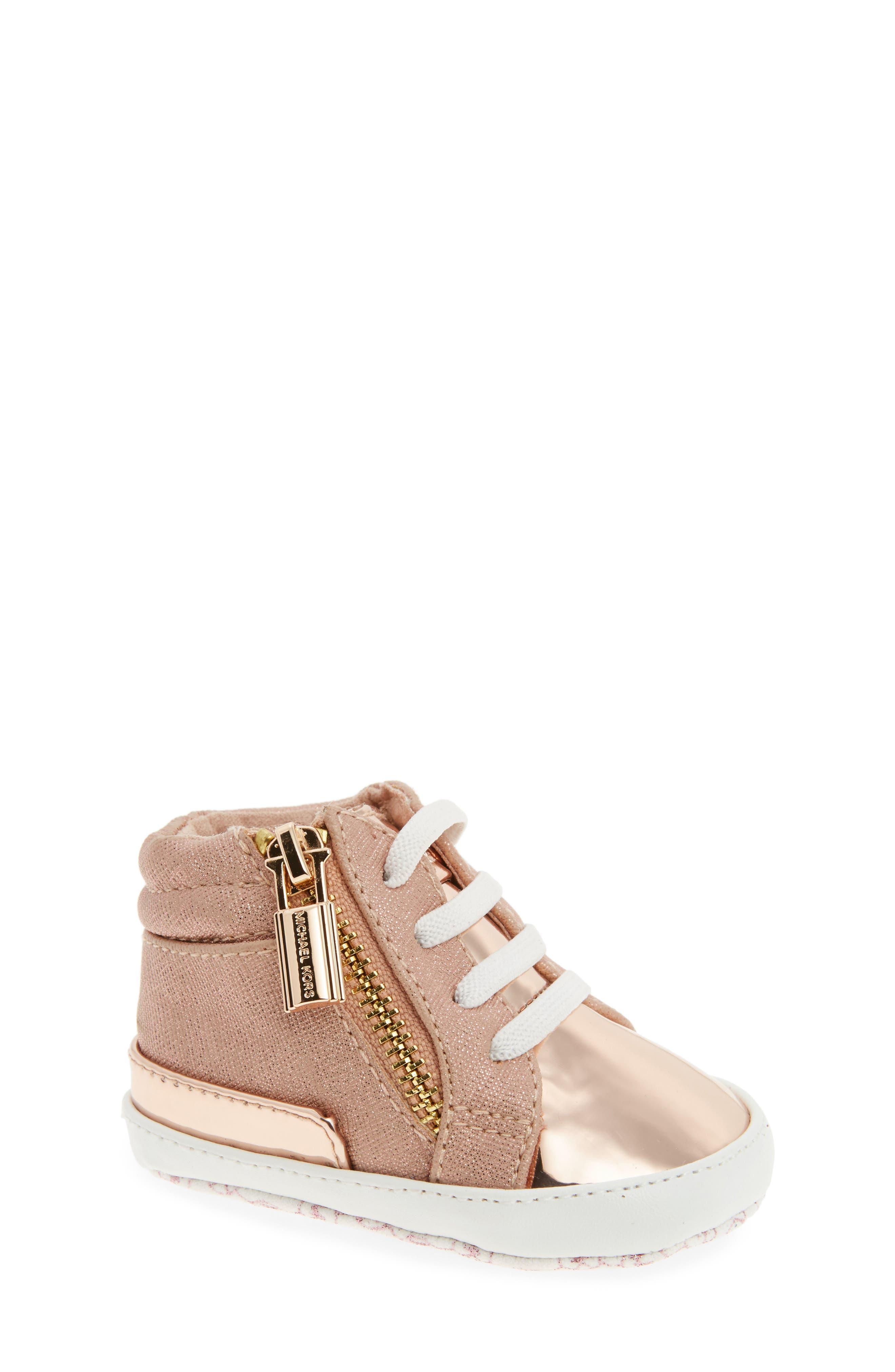 MICHAEL Michael Kors Baby Bleu High-Top Crib Shoe (Baby)