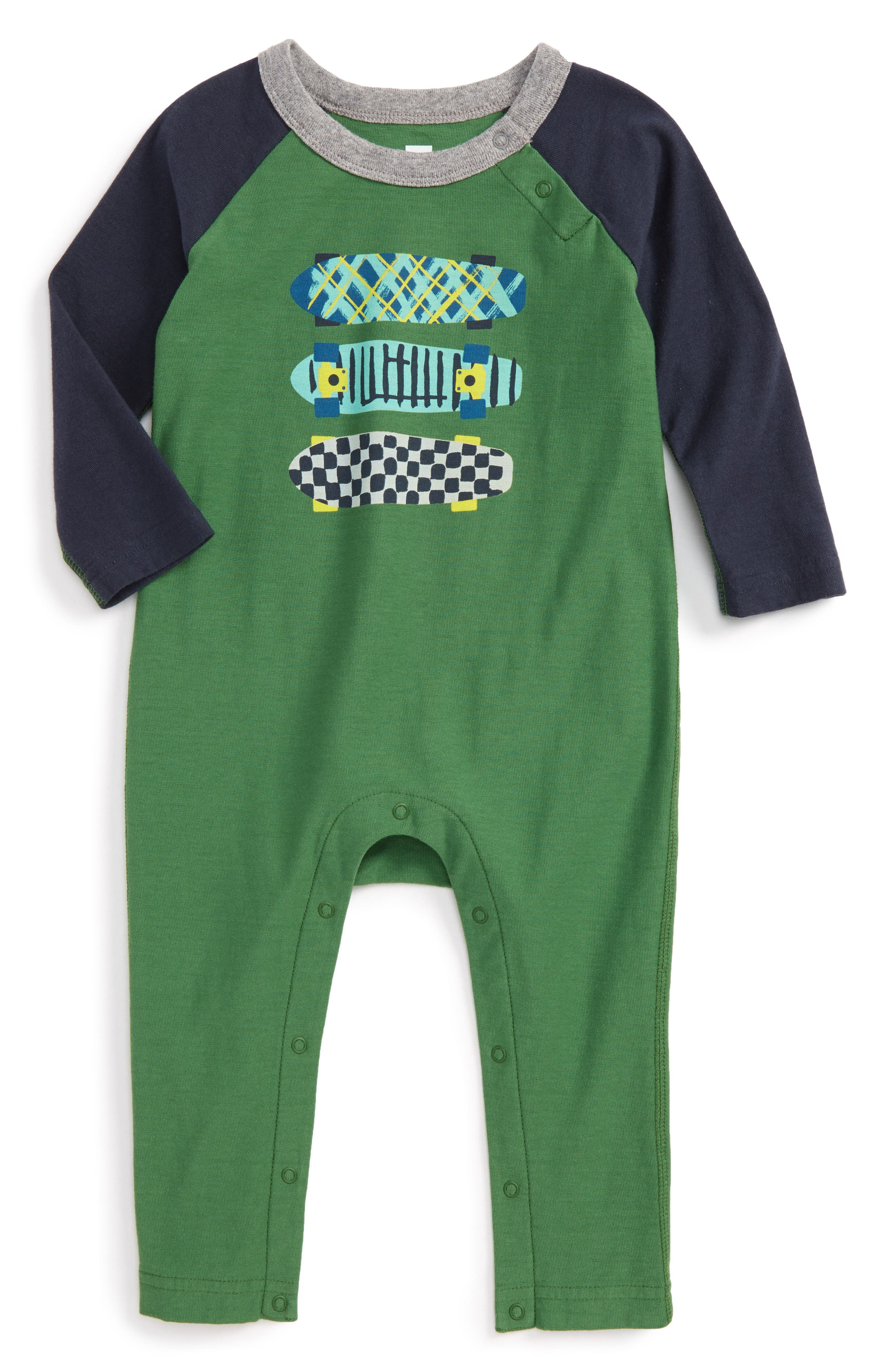 Tea Collection Finnieston Graphic Romper (Baby Boys)