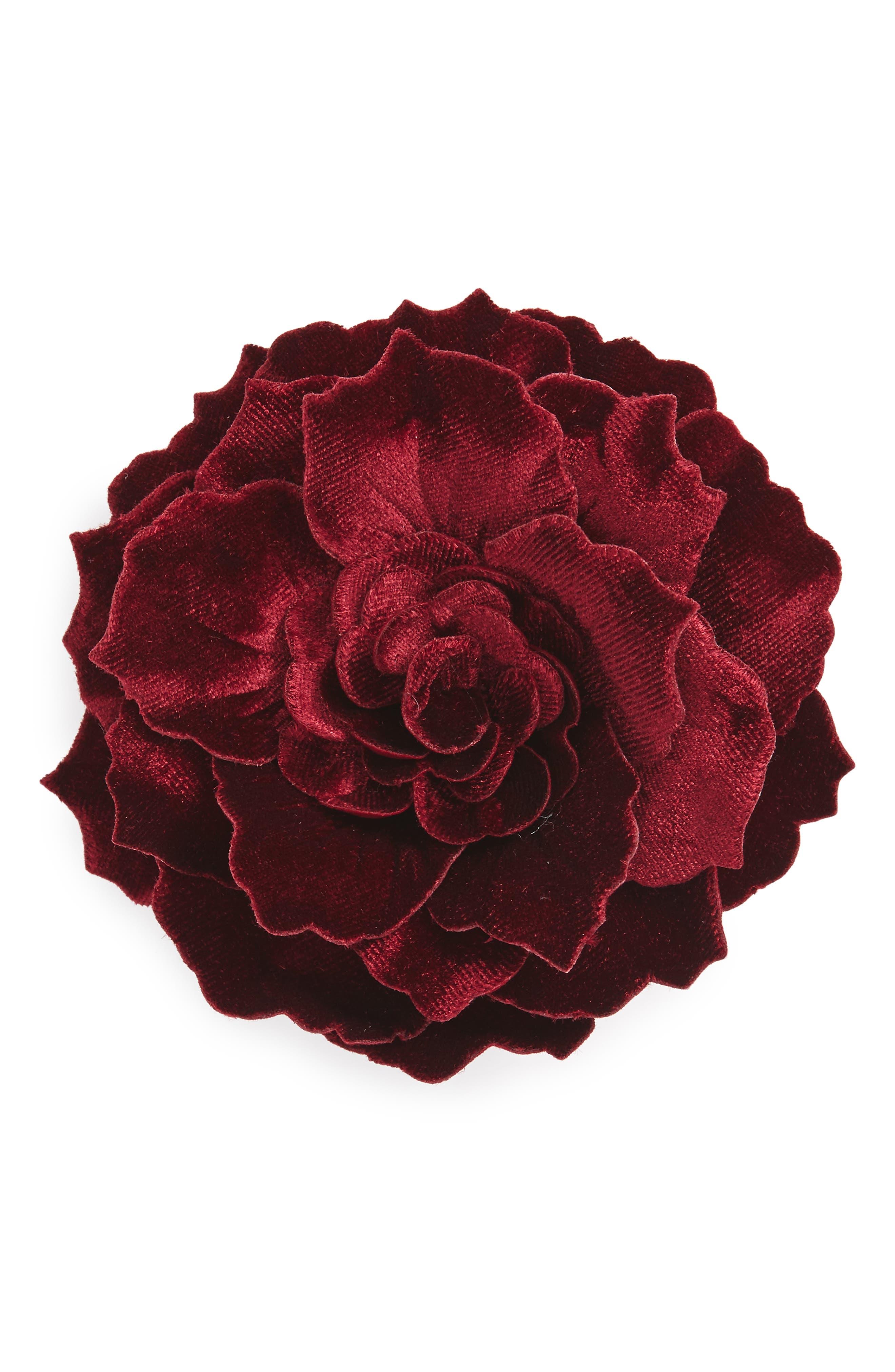 Cara Velvet Flower Pin