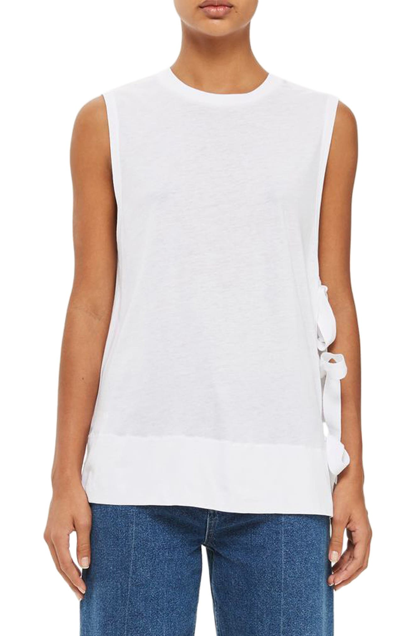 Topshop Boutique Tie Side Tank