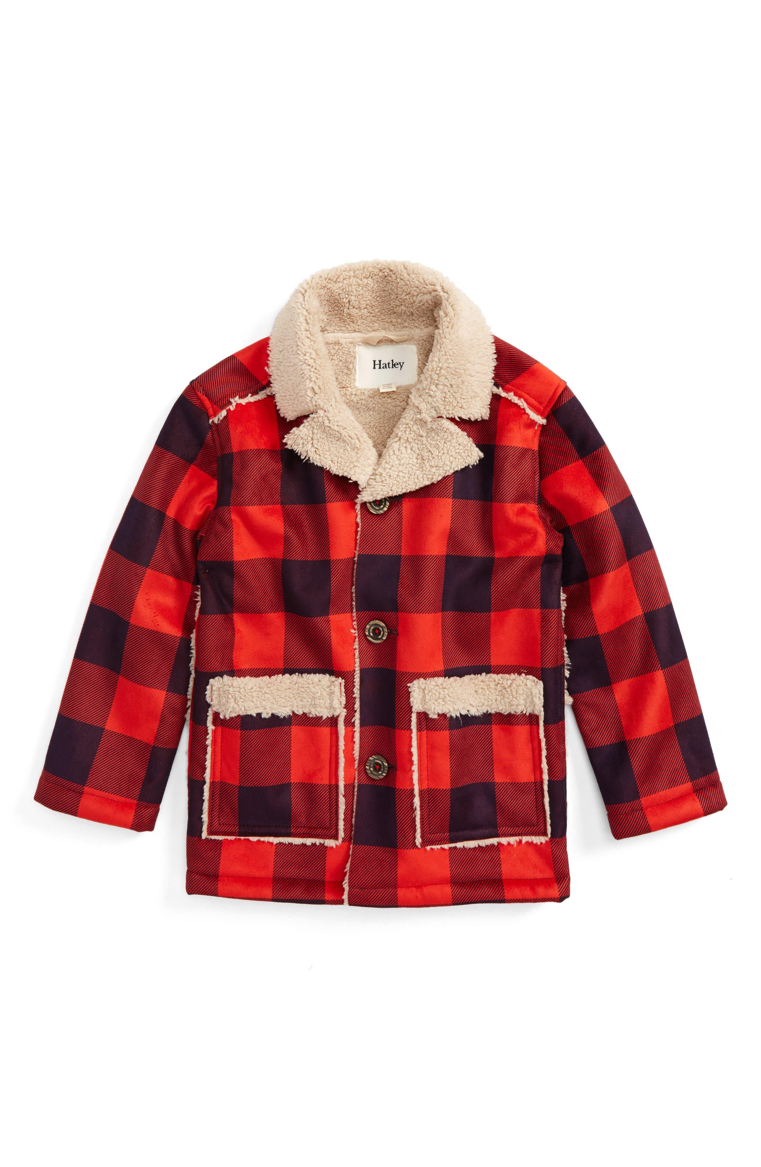 Hatley Faux Shearling Flannel Jacket (Toddler Boys, Little Boys & Big Boys)
