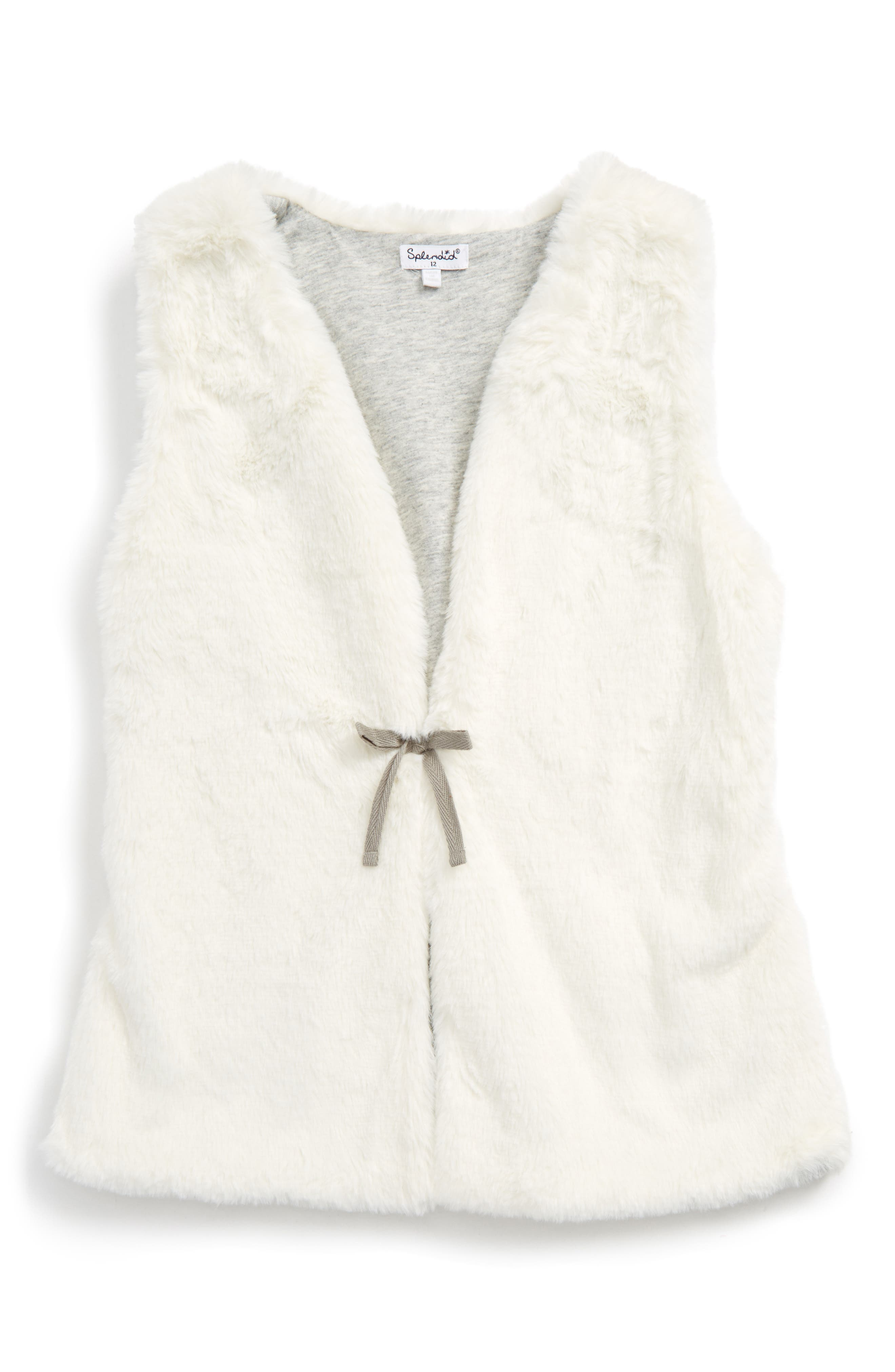 Splendid Faux Fur Vest (Big Girls)