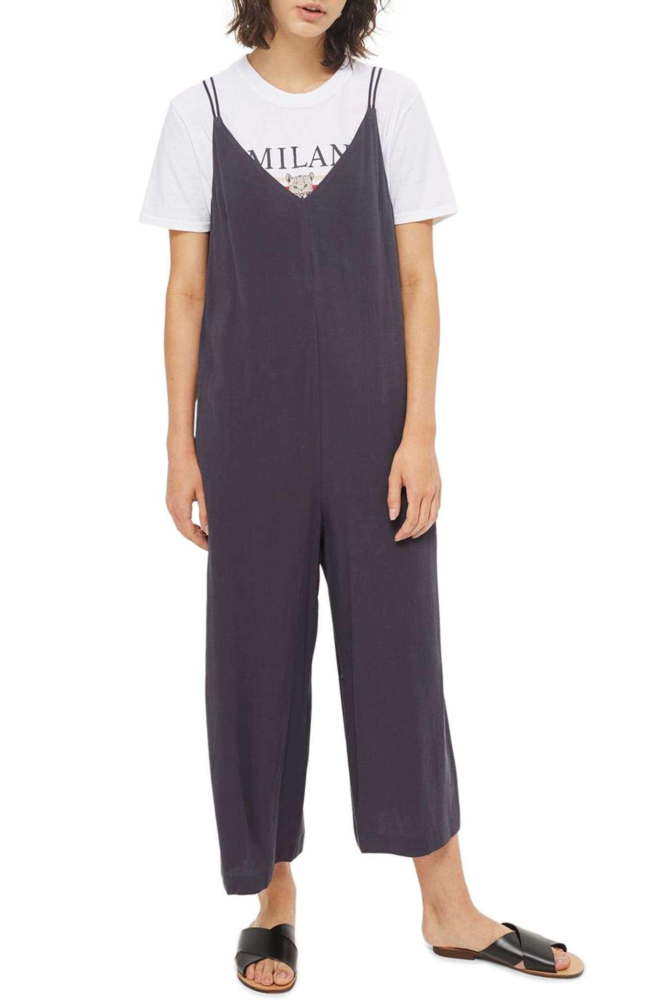 Topshop Molly Tie Back Jumpsuit