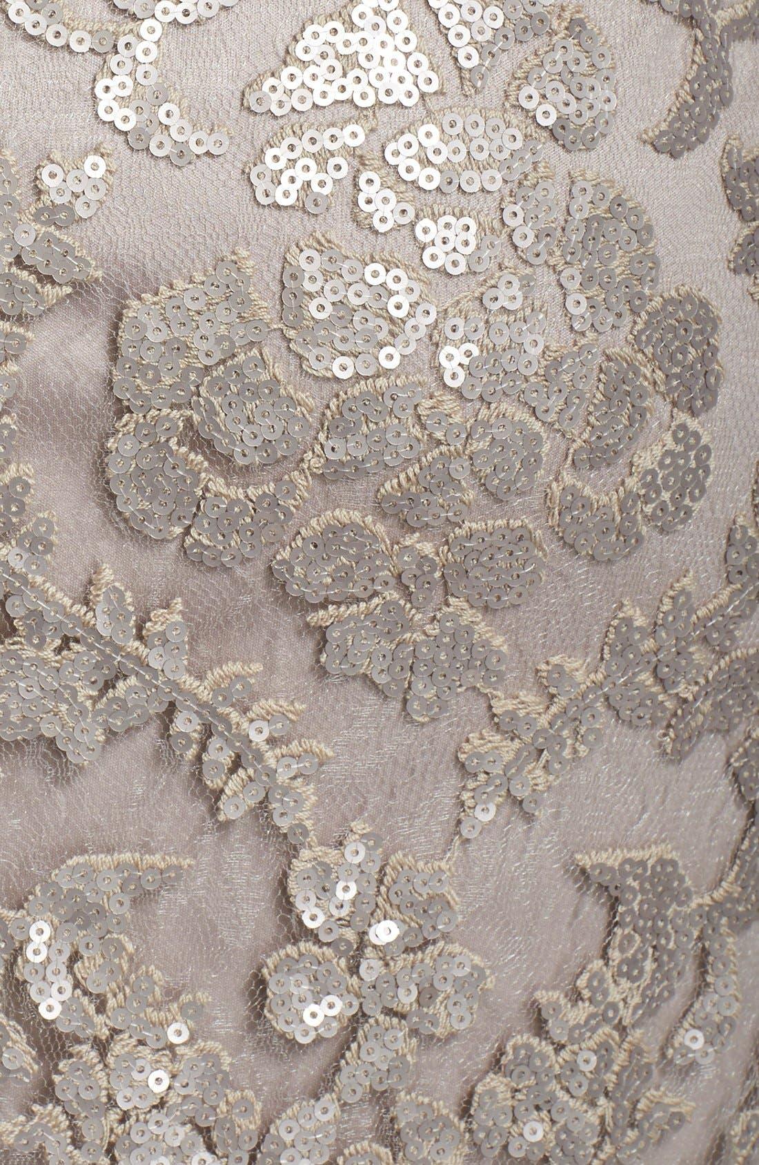 Alternate Image 4  - Tadashi Shoji Sequin Illusion Lace Dress (Regular & Petite)