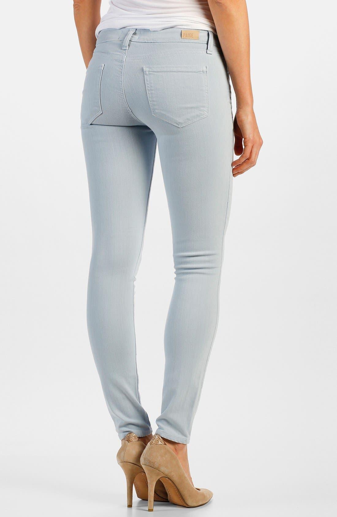Alternate Image 2  - Paige Denim 'Edgemont' Zip Detail Ultra Skinny Jeans (Powder Blue)