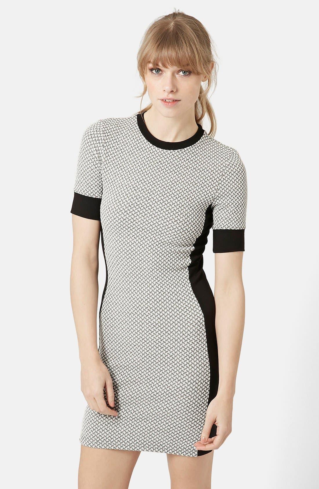 Main Image - Topshop Geometric Print Body-Con Dress (Regular & Petite)