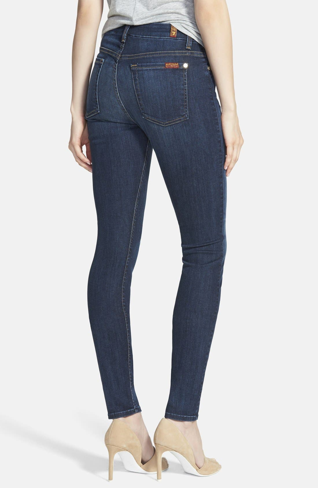 Alternate Image 2  - 7 For All Mankind® 'The High Waisted Skinny' Jeans