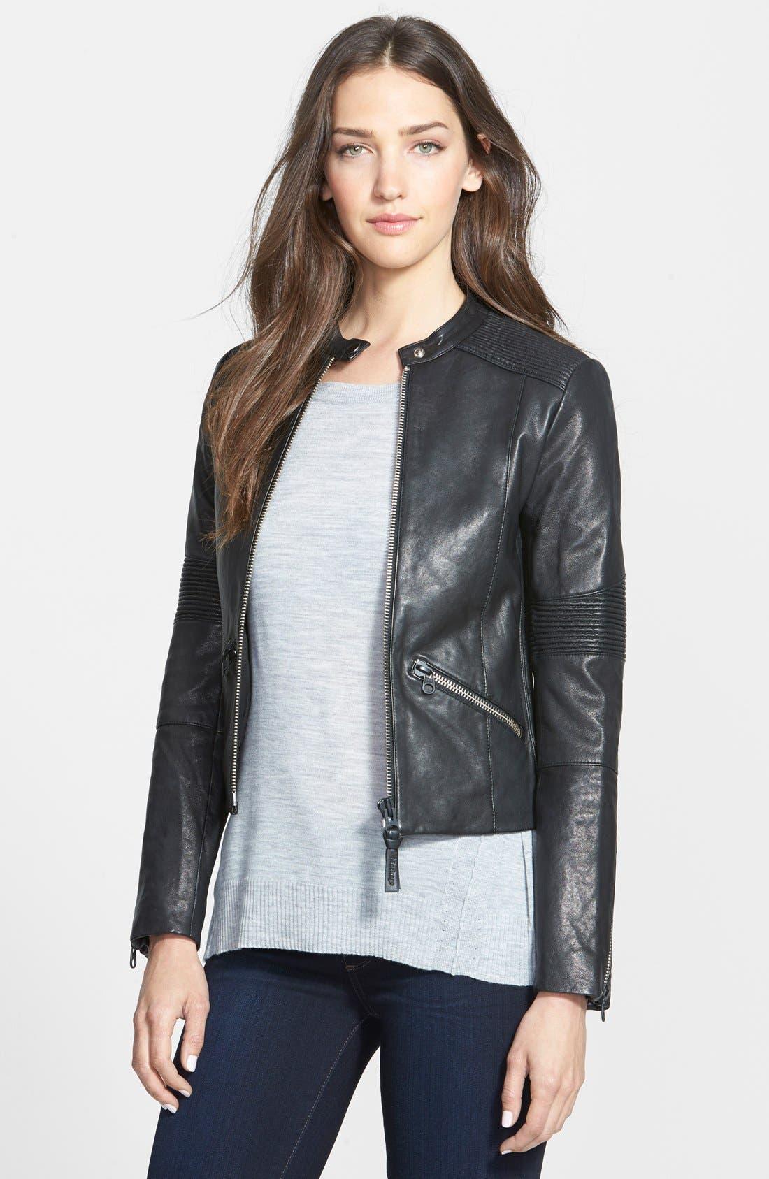 Alternate Image 1 Selected - Mackage Leather Moto Jacket